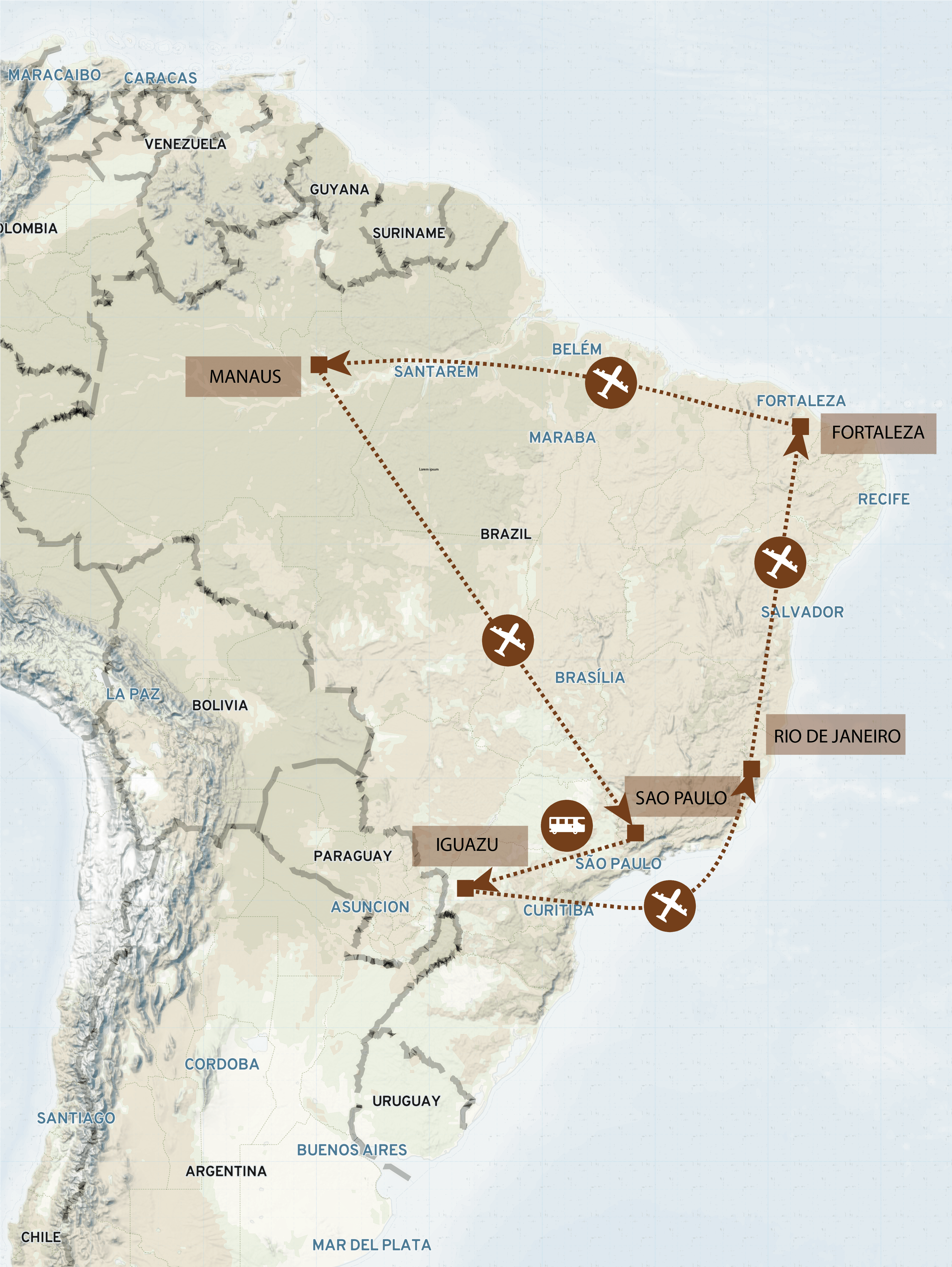 Brasilien Route Map_2