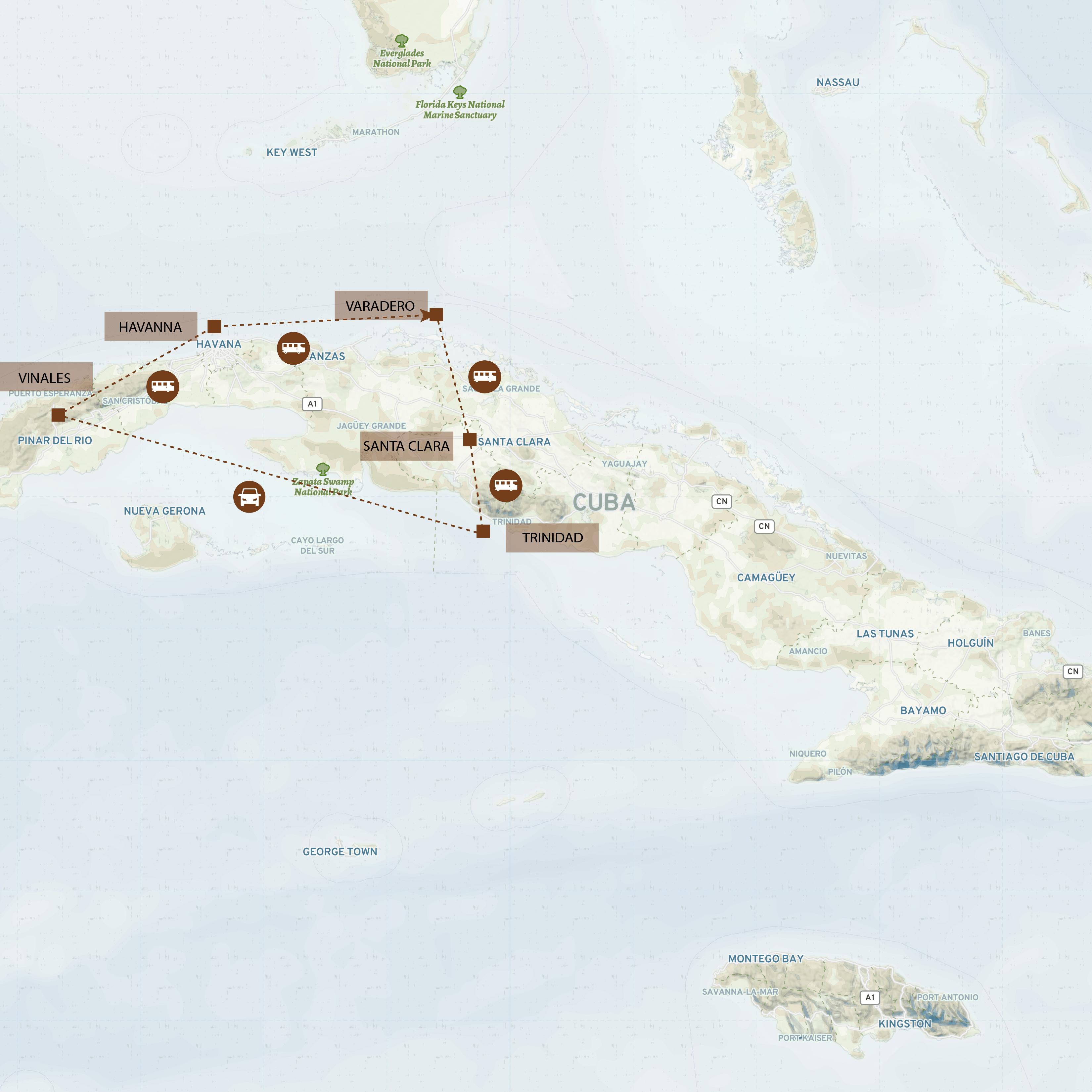 Kuba_Route_Map