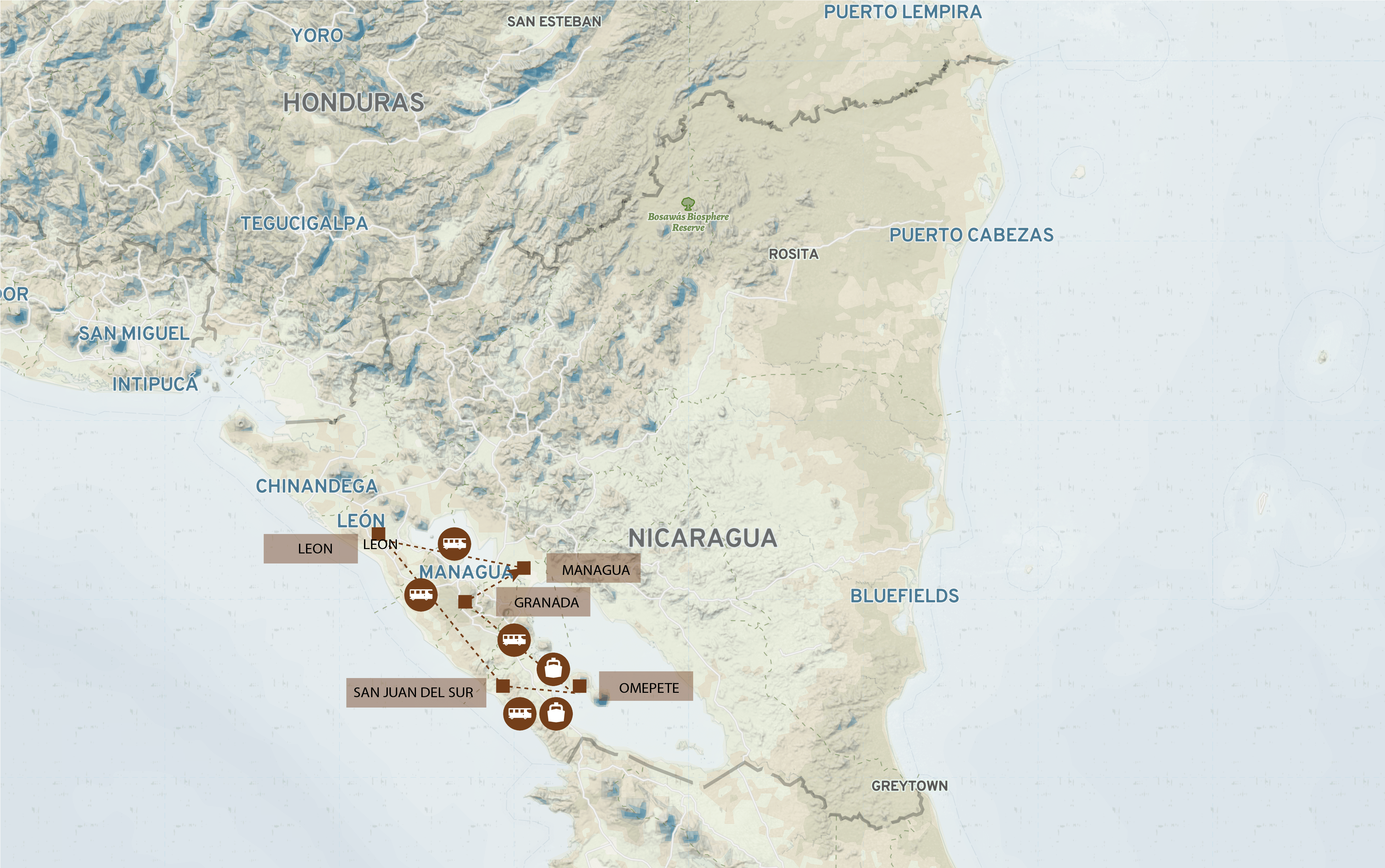 Nicaragua_Route_Map