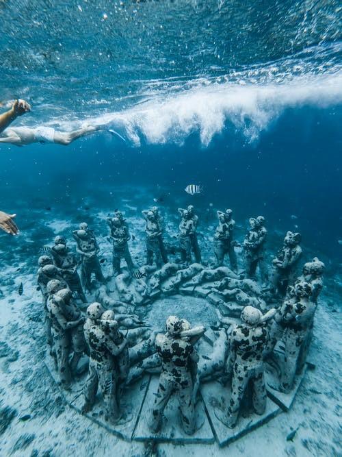 Gili Meno Unterwasserstatuen