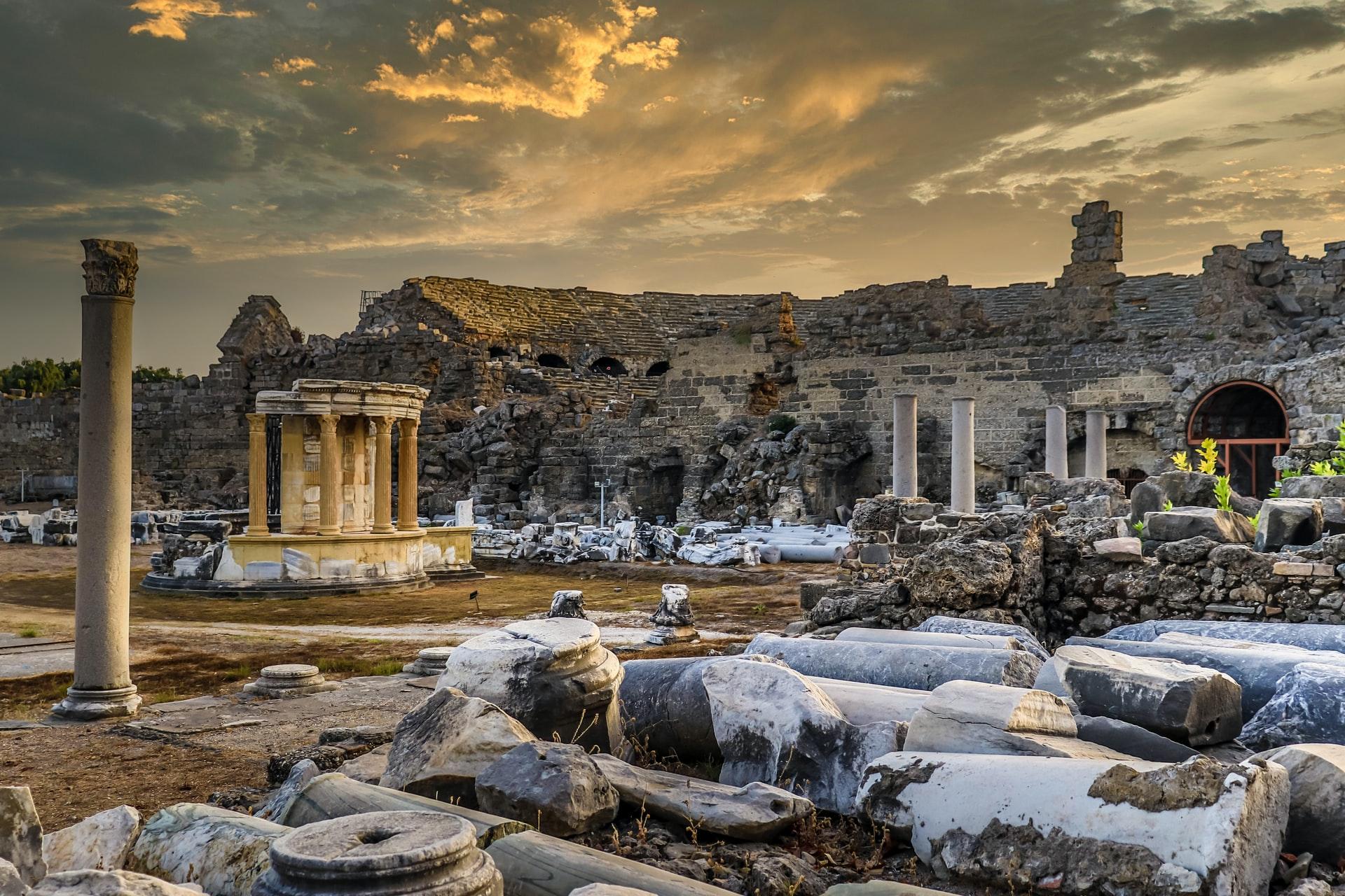 Side Römische Ruinen