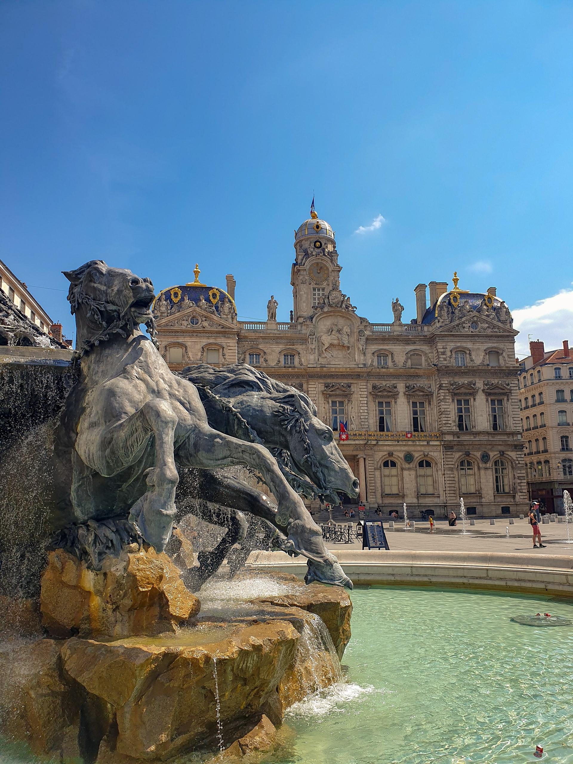 Frankreich Lyon Brunnen