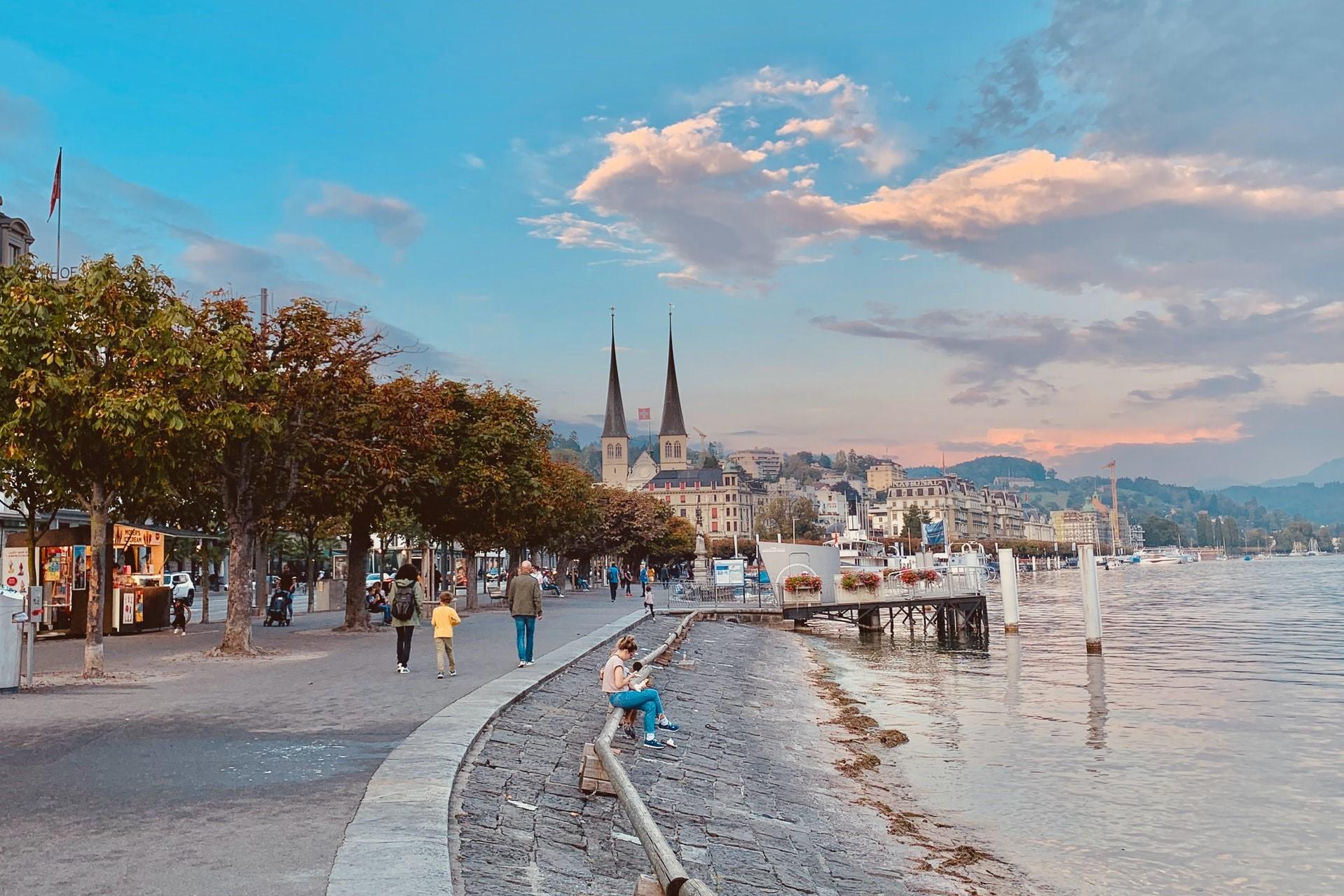 Schweiz Luzern Promenade