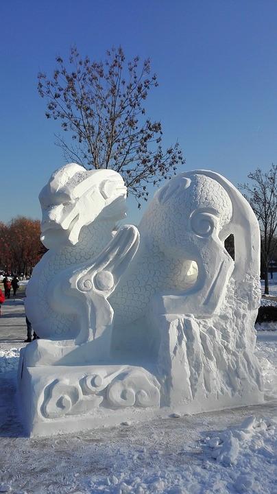 China Harbin Eisfestival Skulptur
