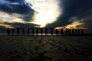 Einwohner Chile Strand Menschen