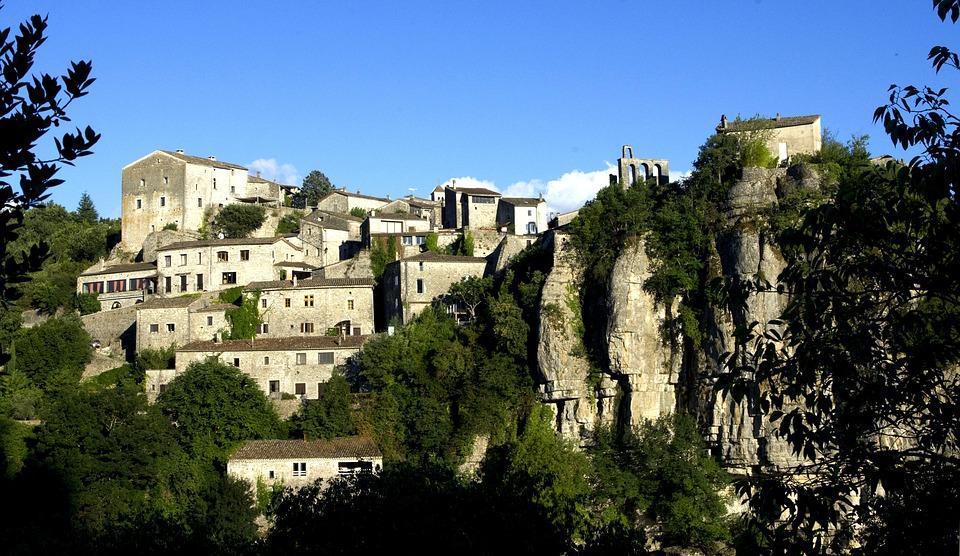 Frankreich Ardeche Dorf