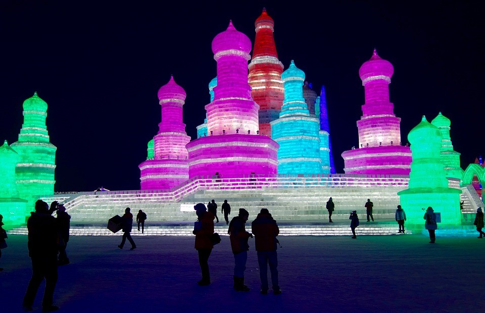 Harbin Schnee und Eis Festival China