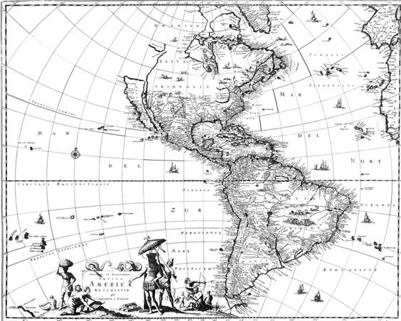 Karte Amerika