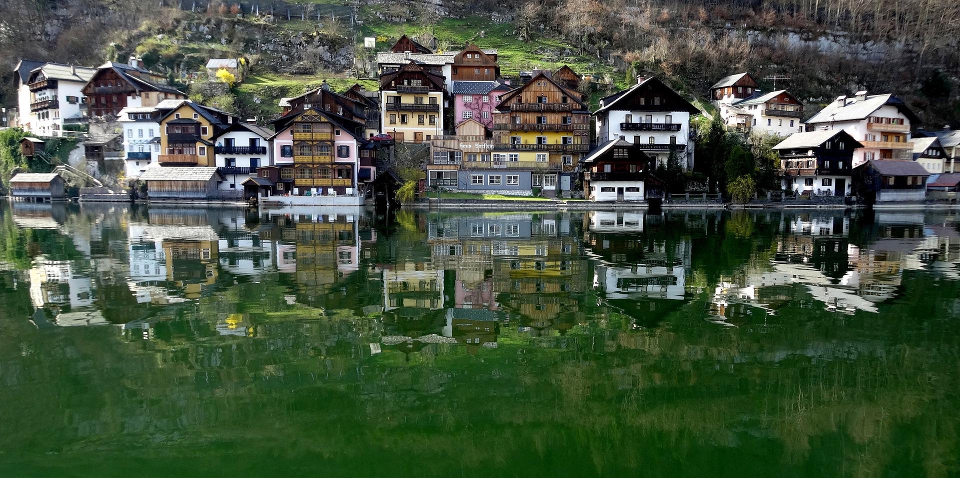 Österreich Hallstadt Häuser