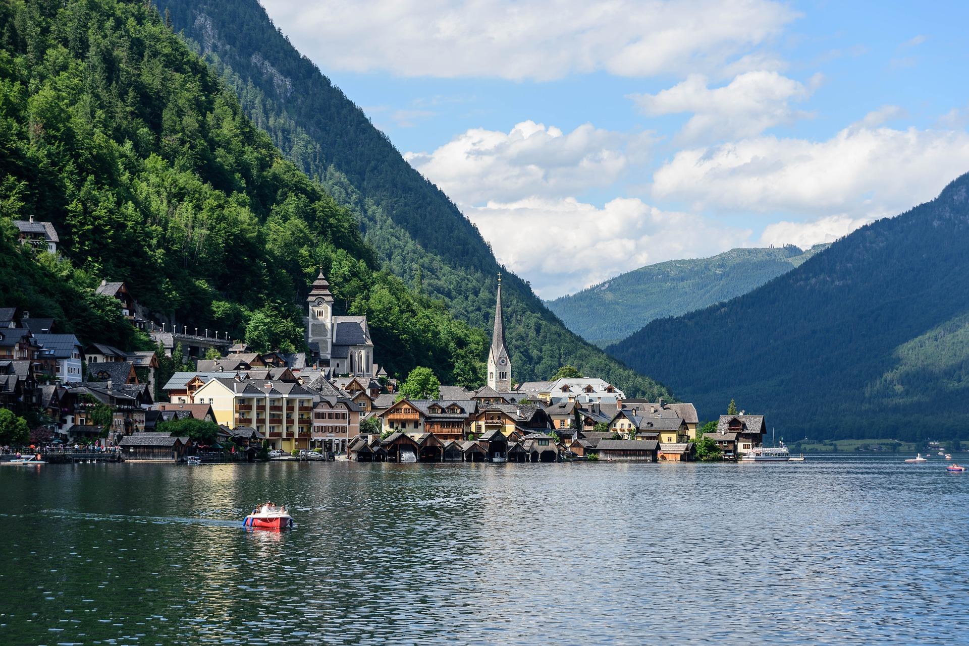 Österreich Hallstadt See