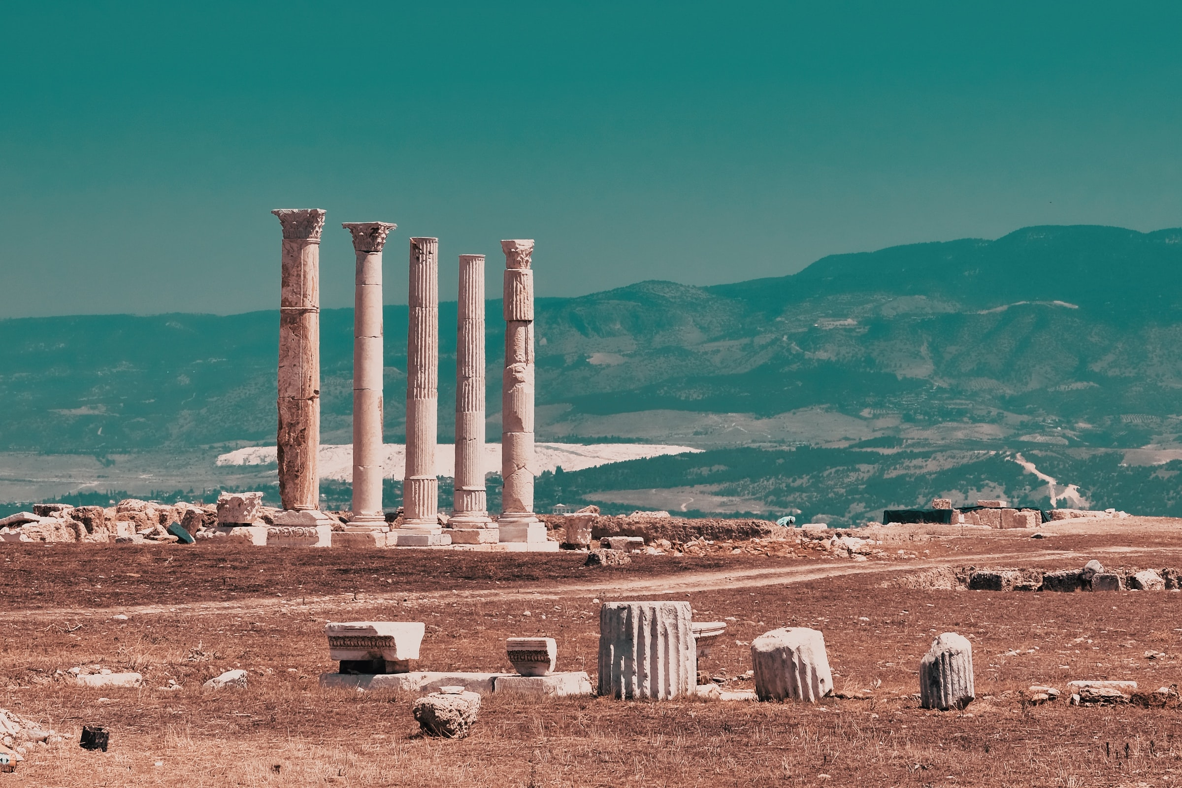 Pamukkale Türkei Laodikeia Ruinen