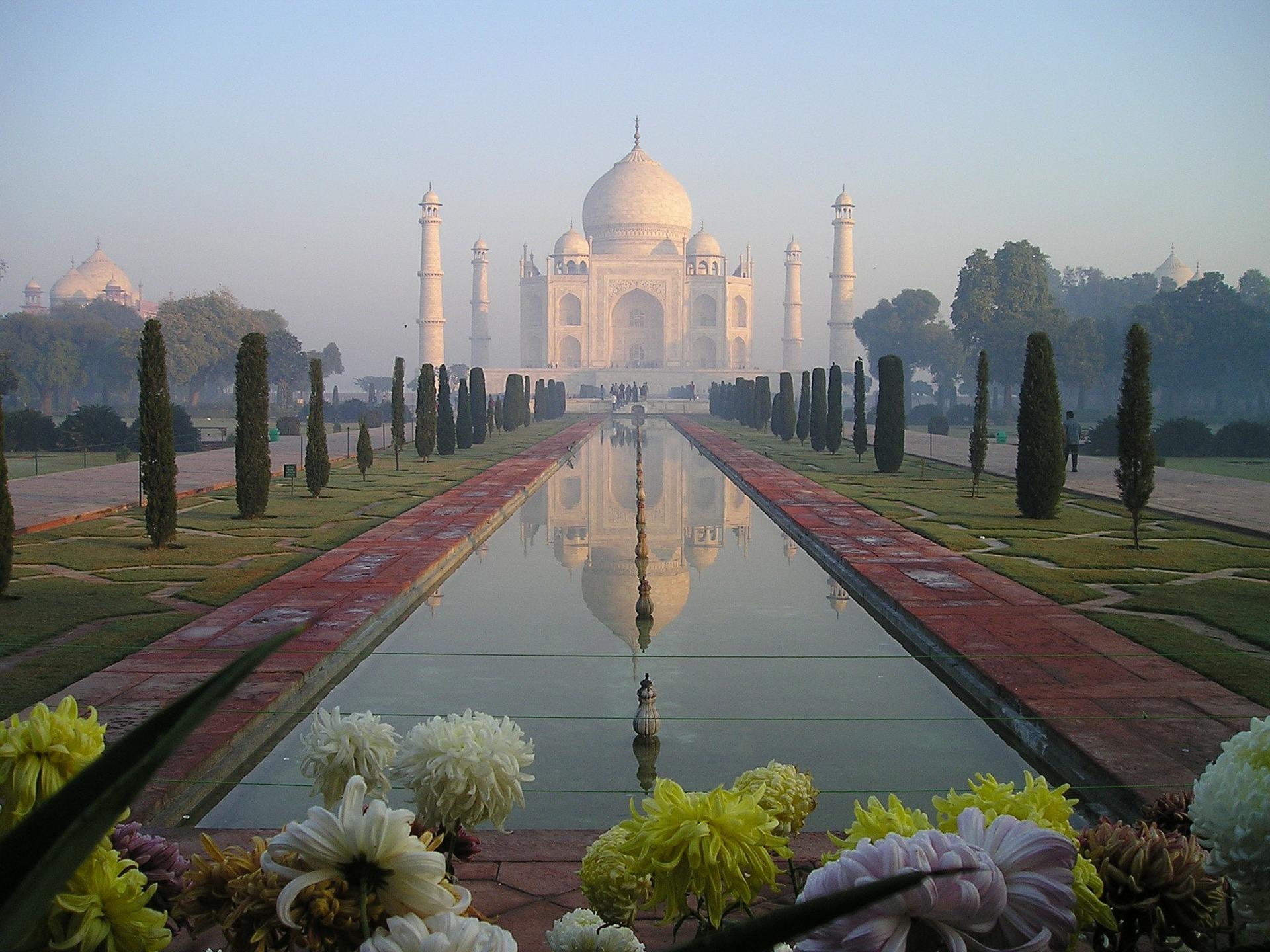 Taj Mahal Indien Spiegelbild