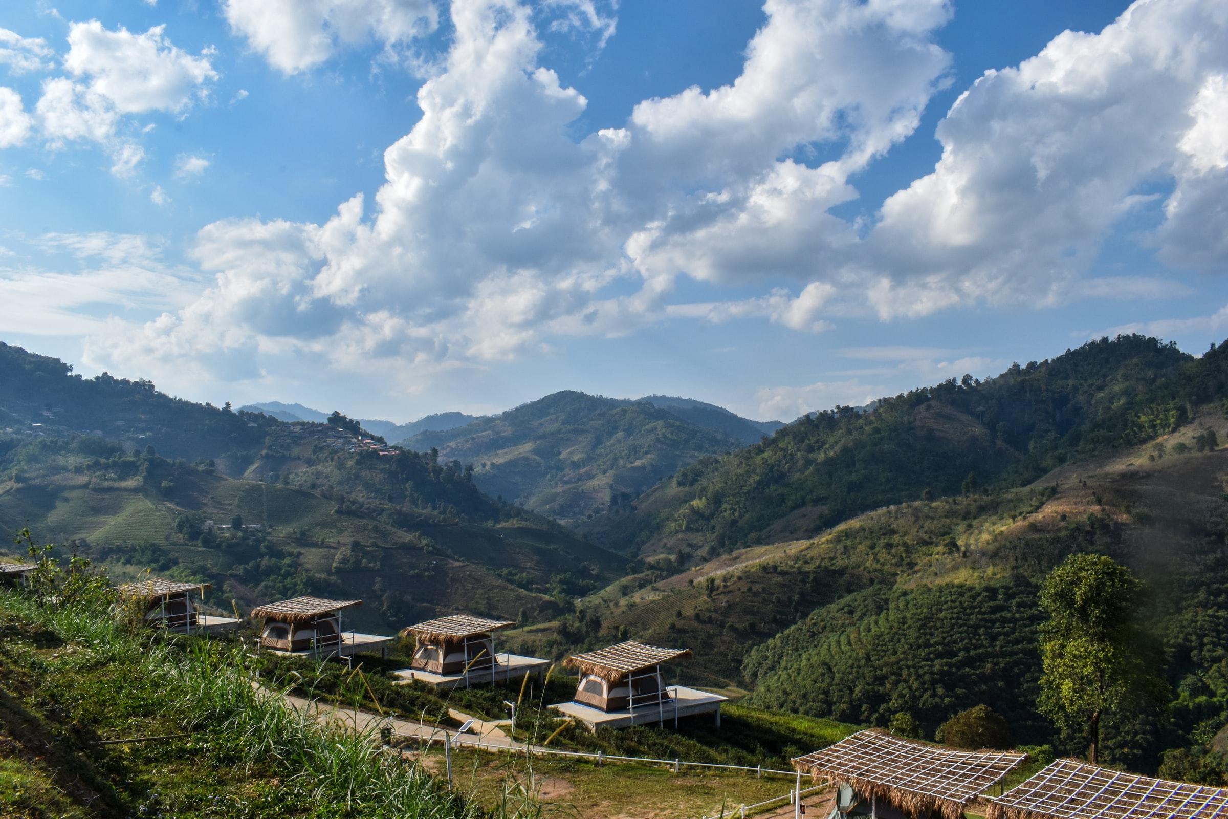 Thailand Regensaison Landschaft