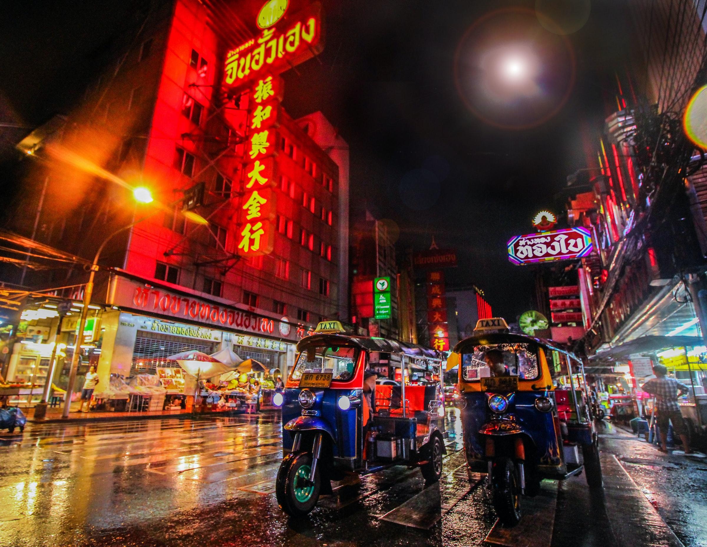Thailand Rundreise Bangkok bei Nacht