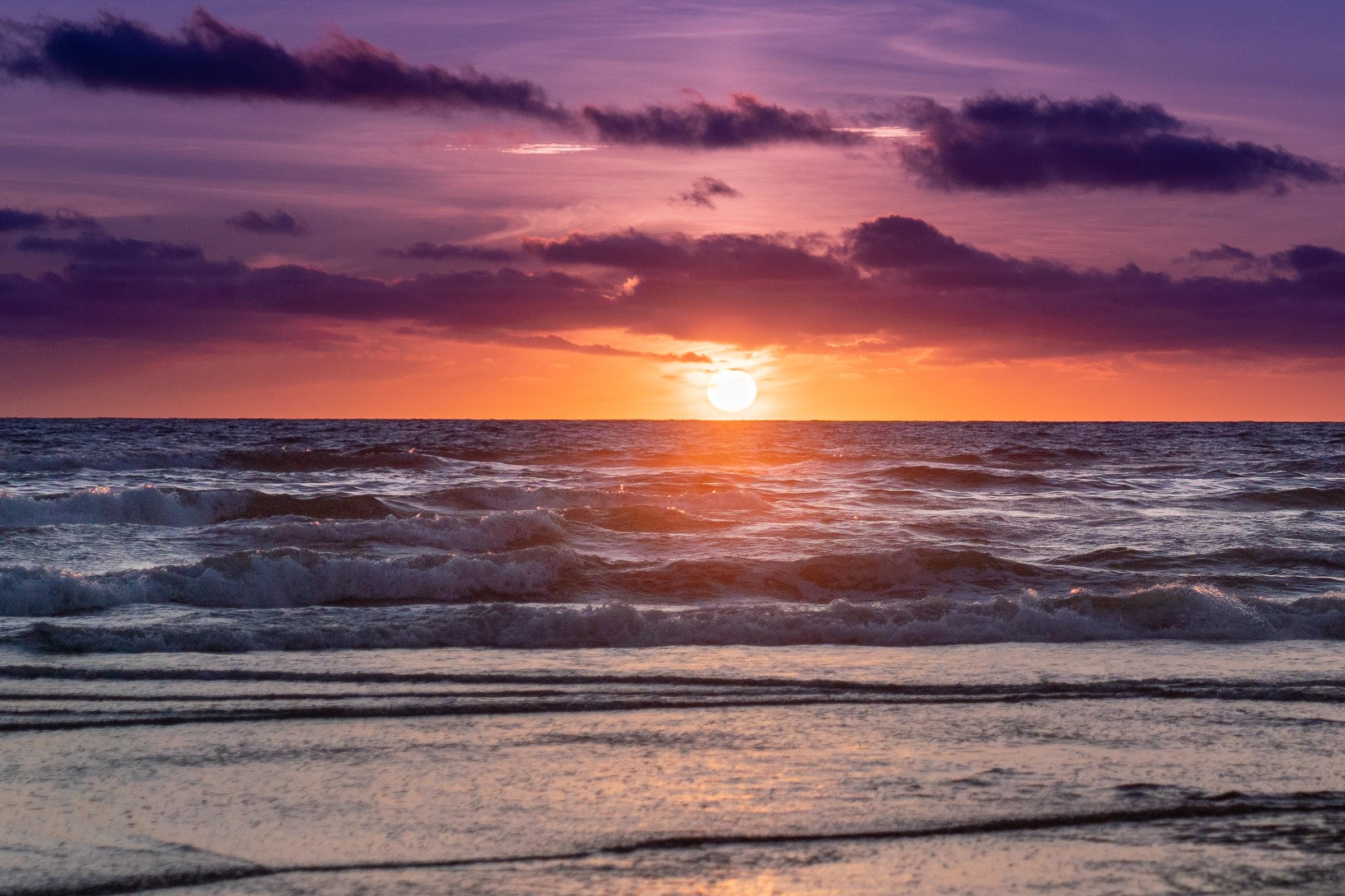 kroatien strand sonnenuntergang