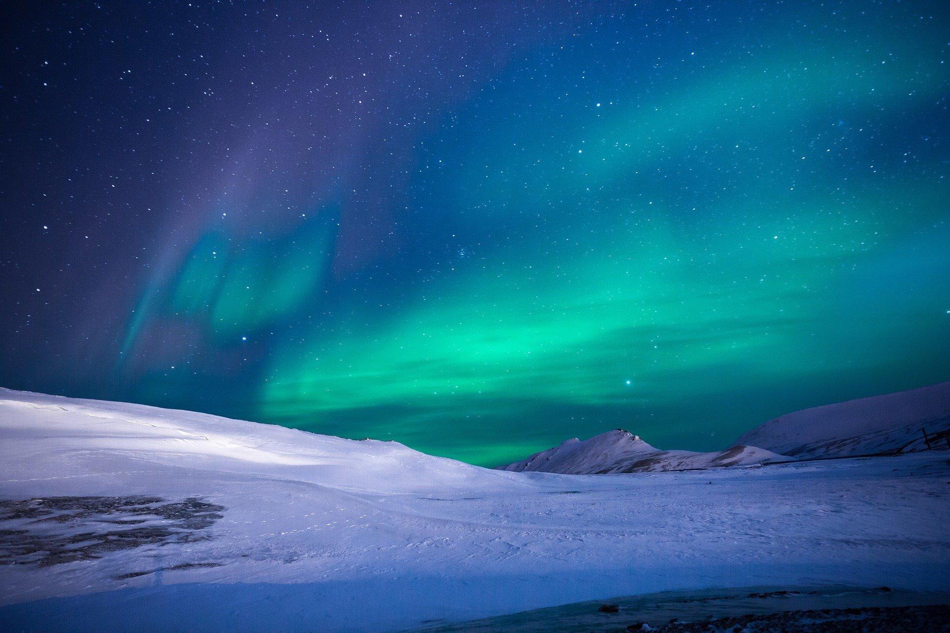 nordlichter sehen grünes licht