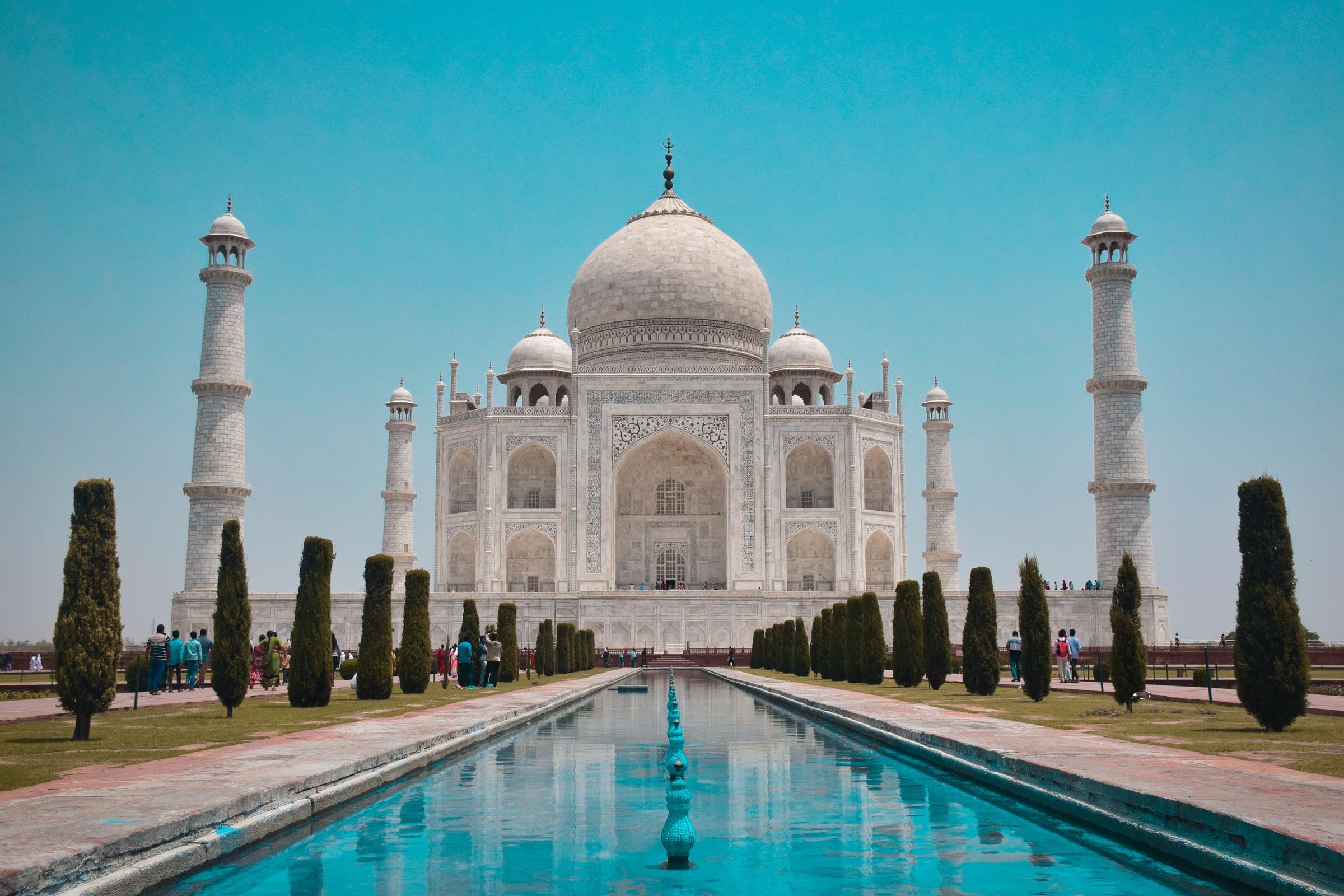 Agra Indien Taj Mahal frontal