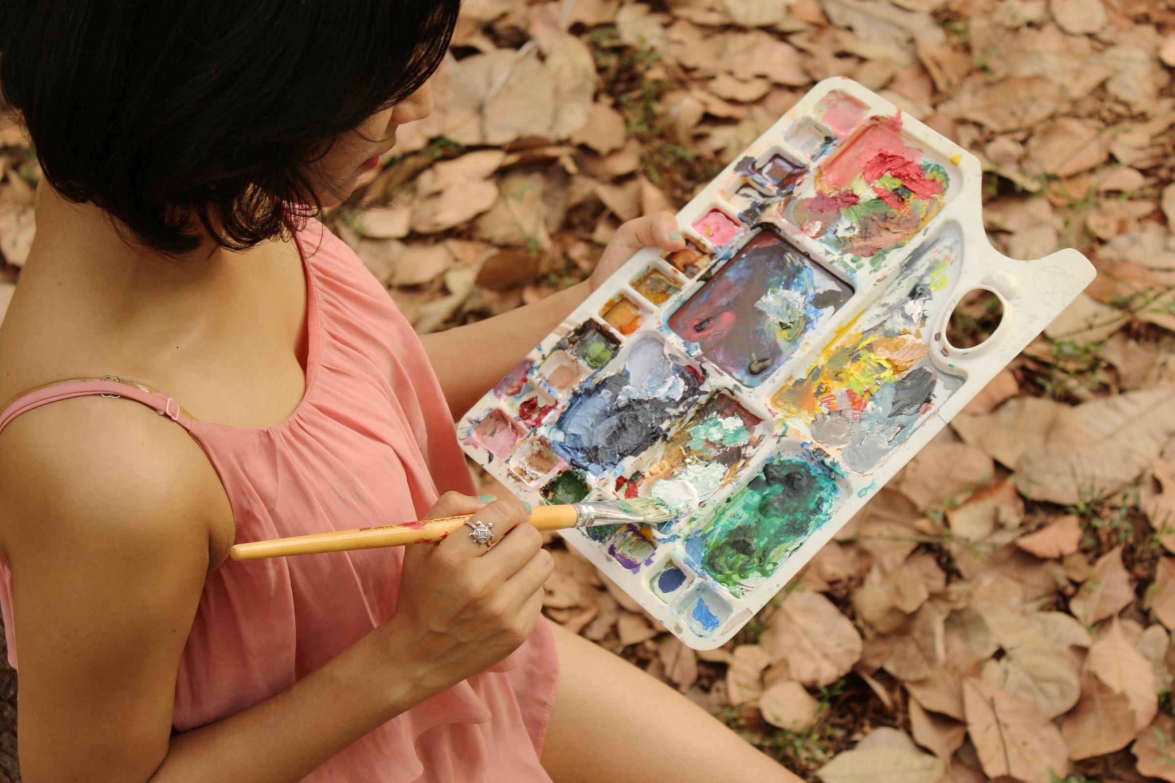Auroville Indien - Farbmischpalette