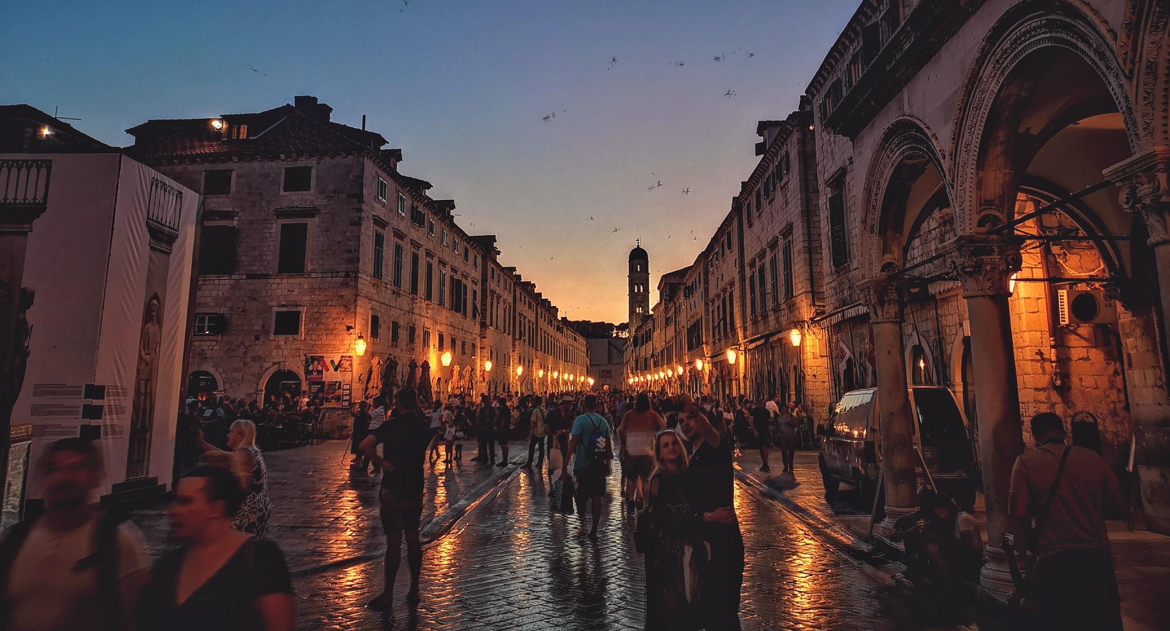 Dubrovnik - Stadt abends