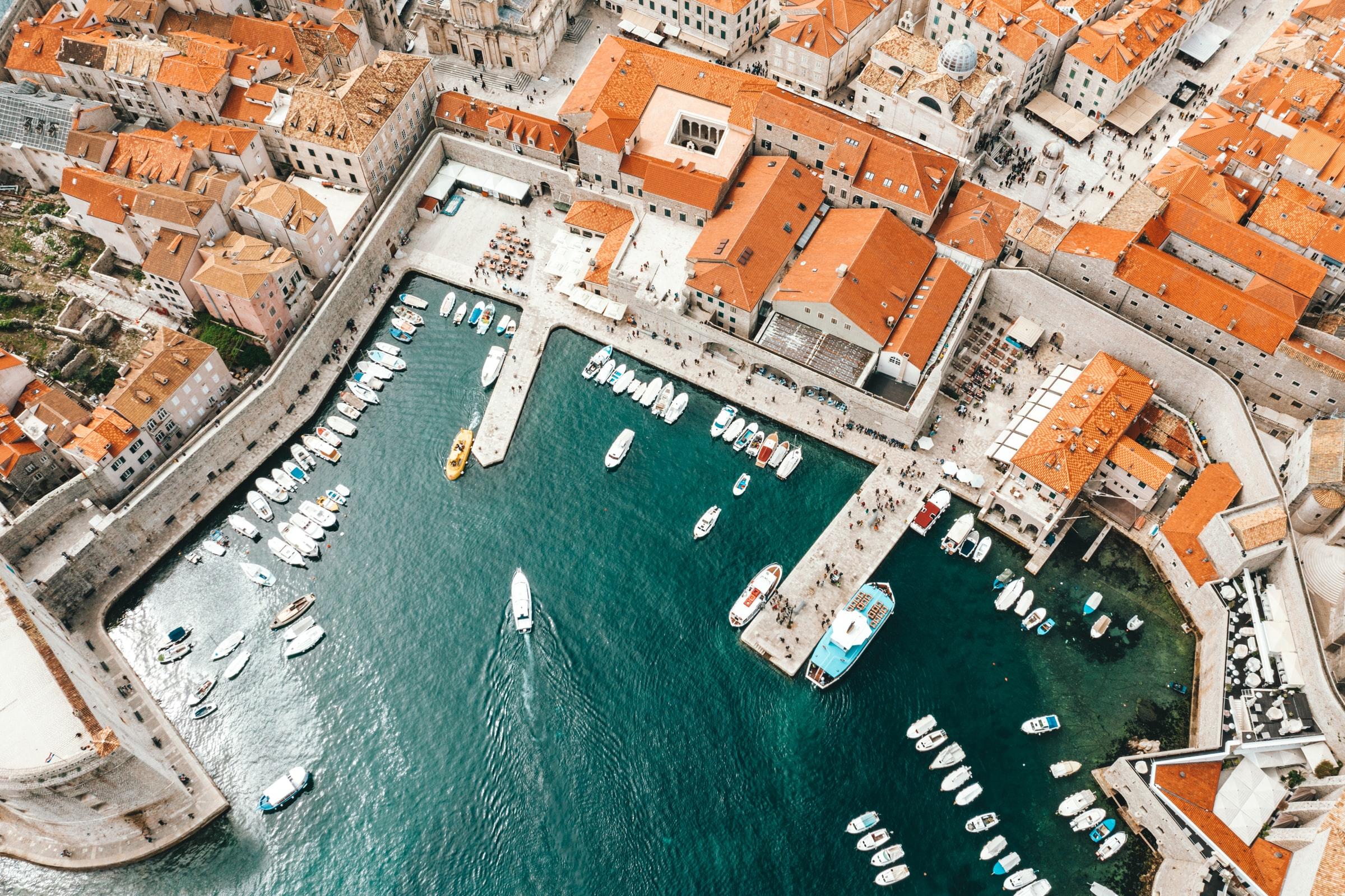Dubrovnik - Stadt von oben