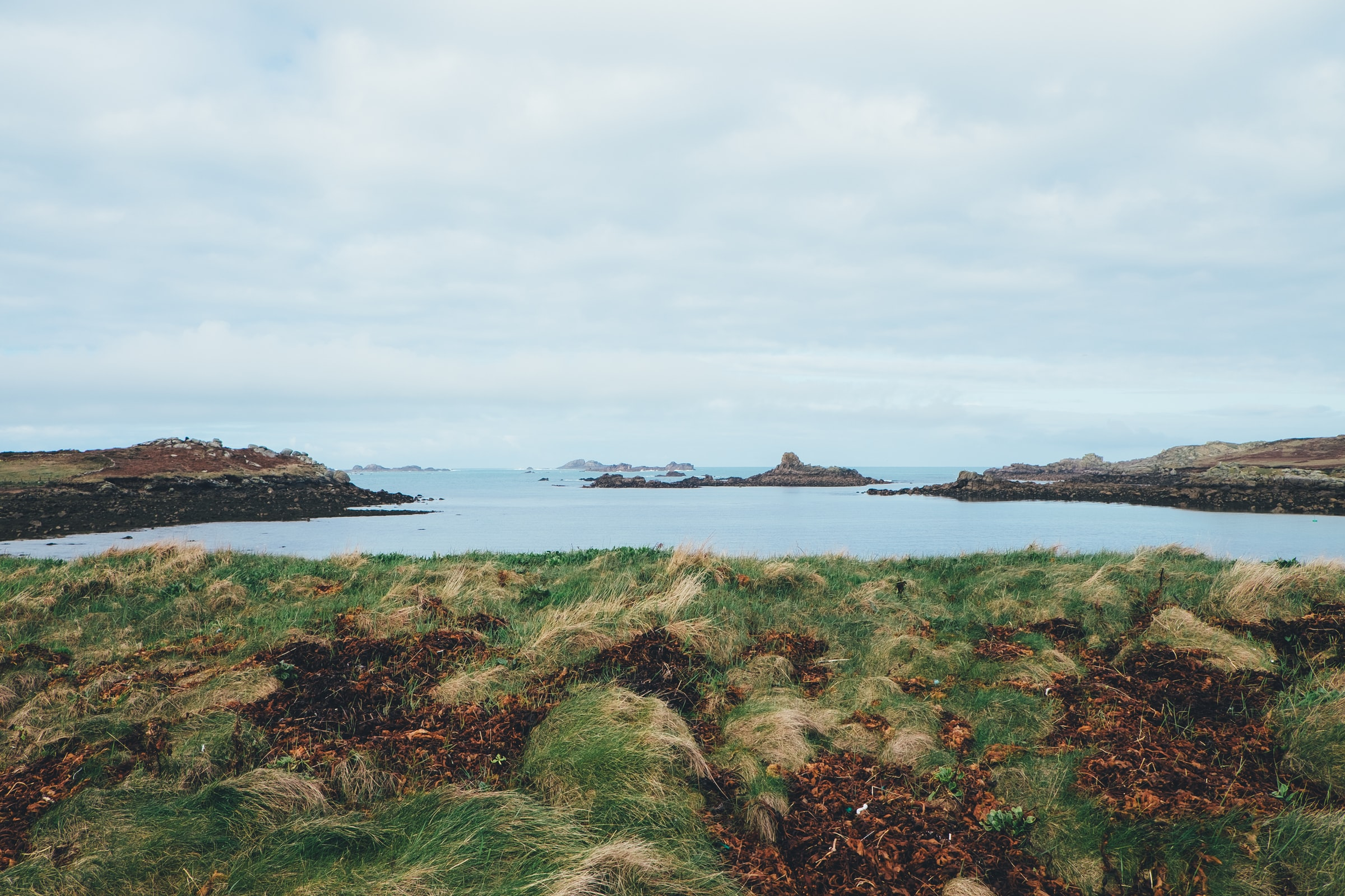 England Scilly Inseln - Bryher - Meer und Gras