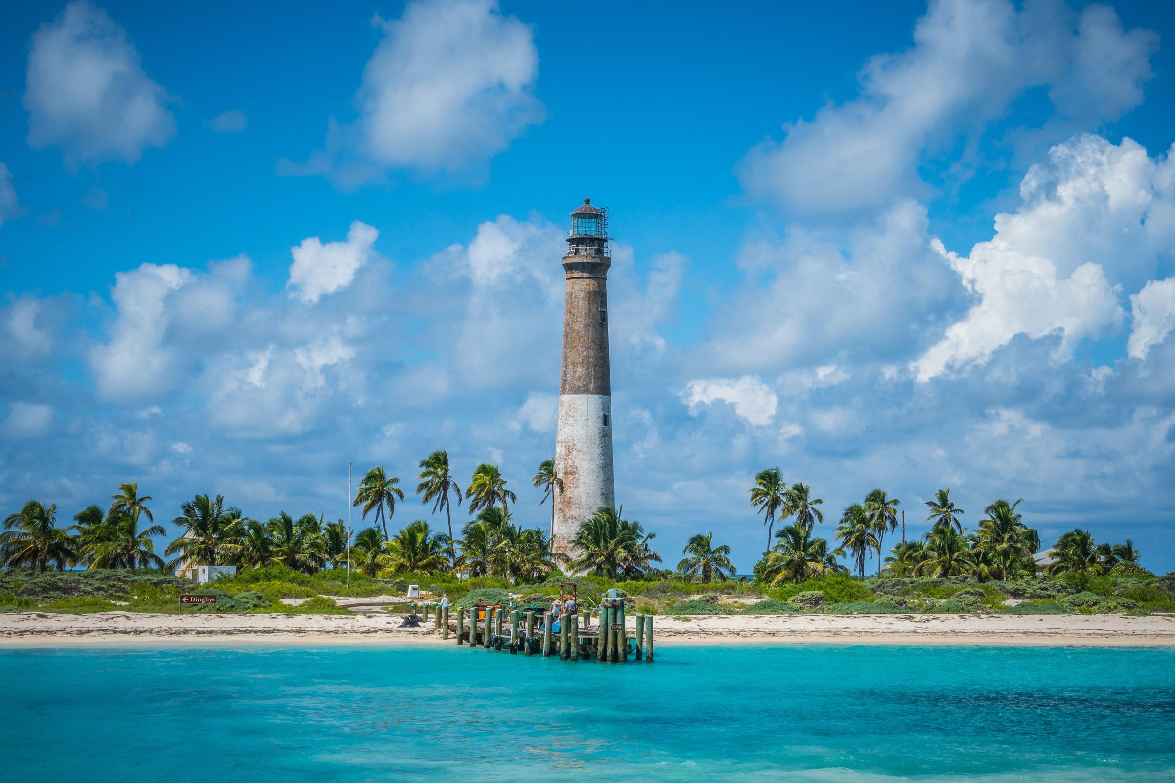 Florida Keys - Strand und Leuchtturm