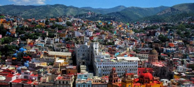 Guanajuato - Blick über Stadt