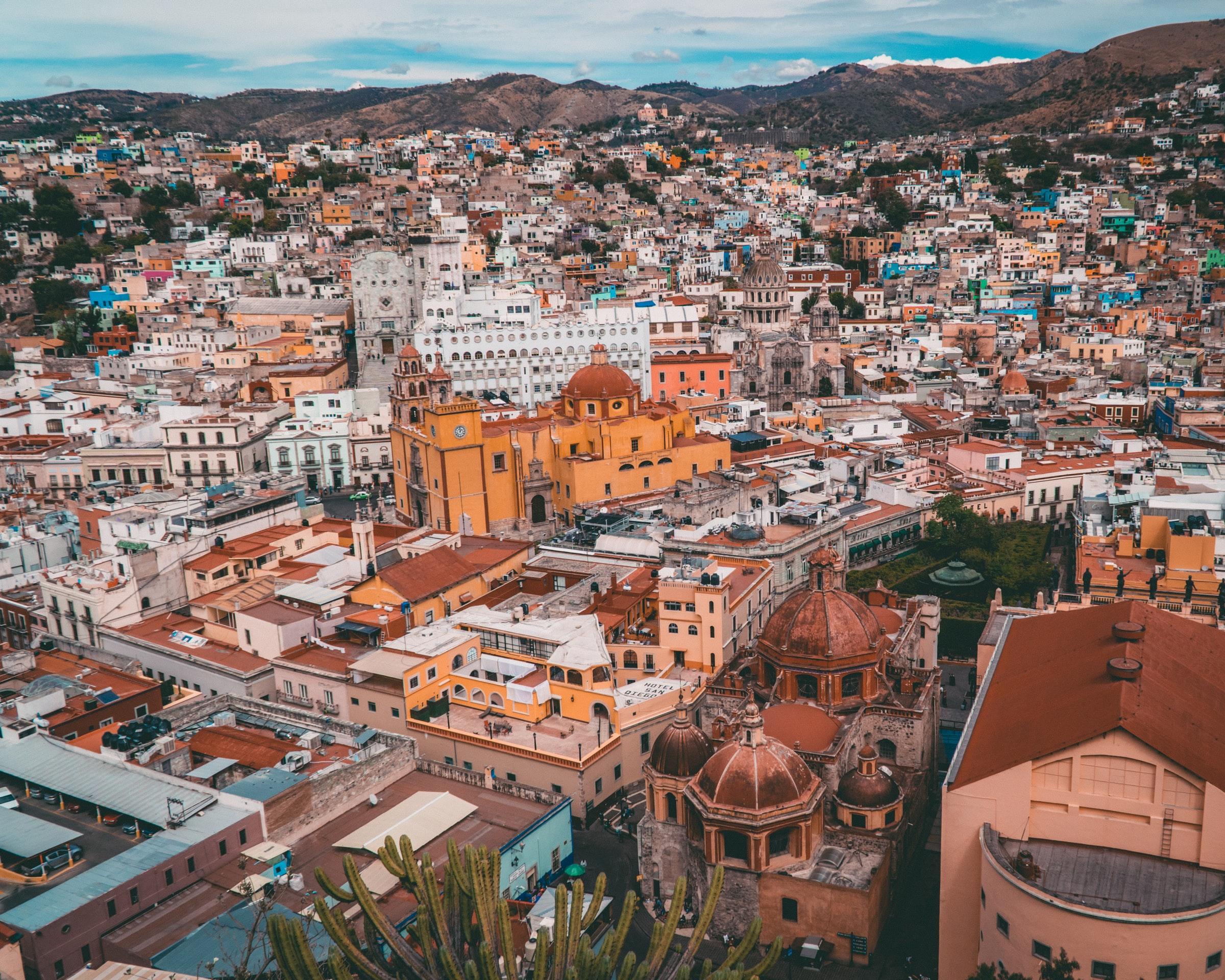 Guanajuato - Blick über die Stadt