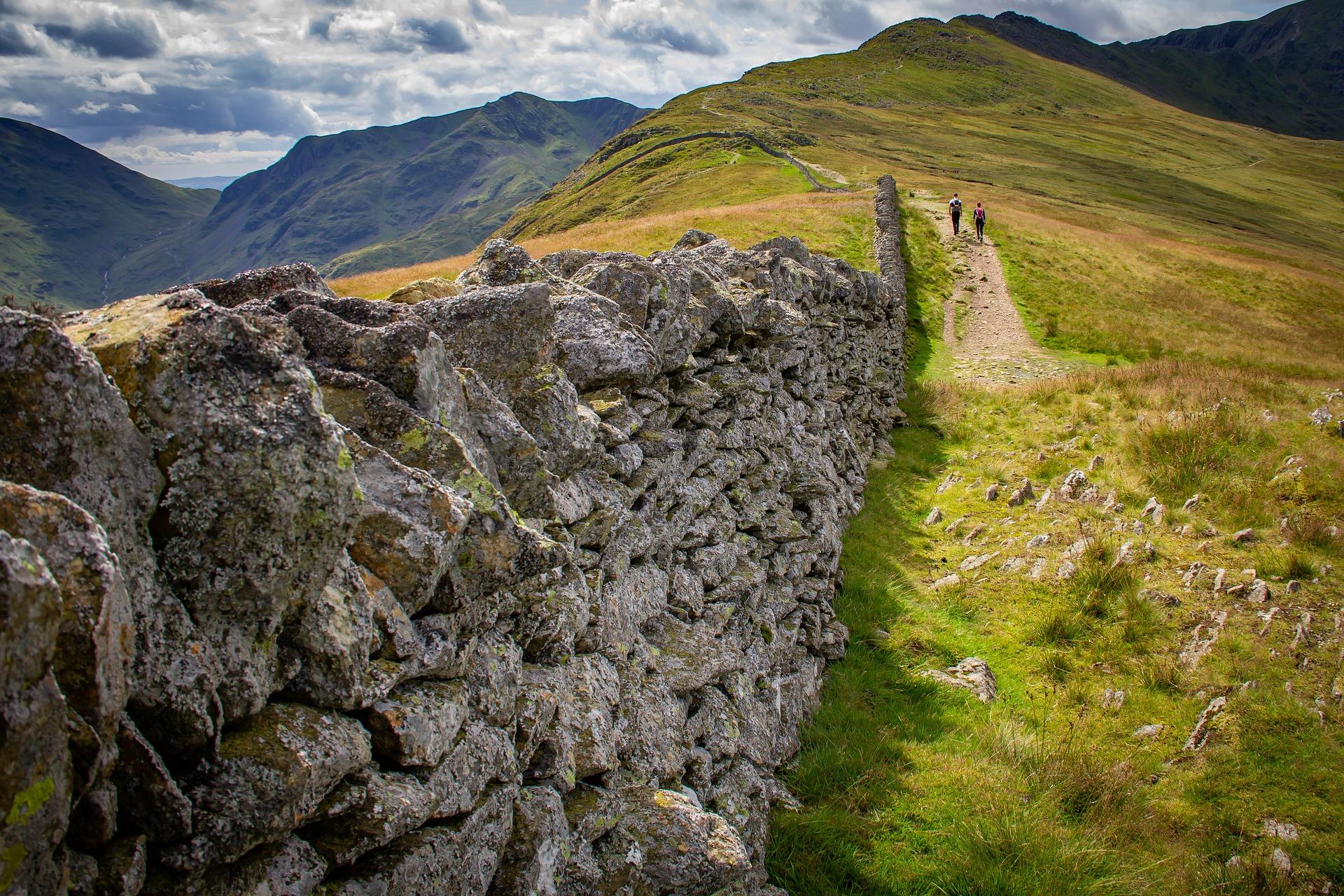 Lake District Berge und Wanderweg