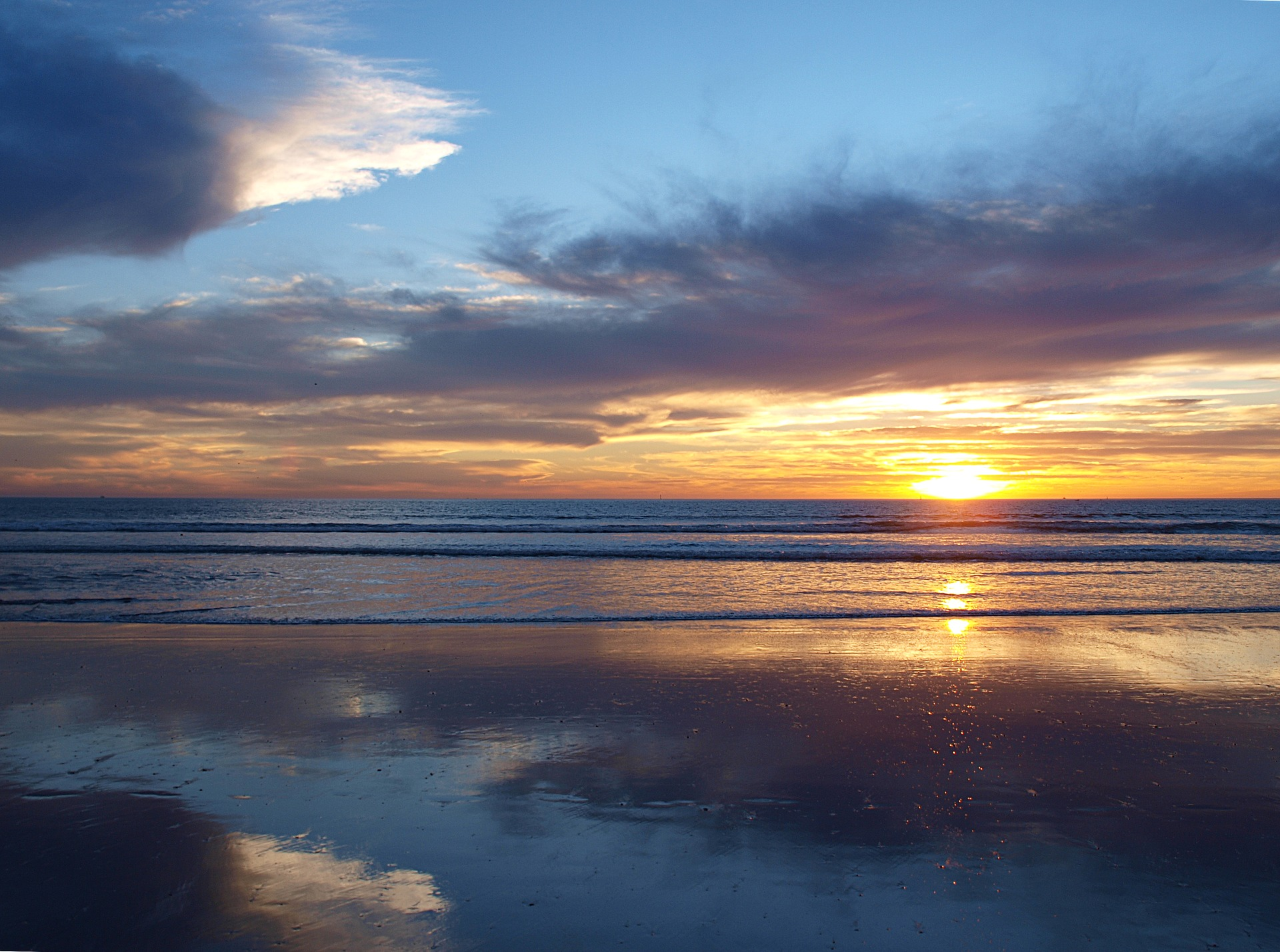 Marokko Agadir - Strand und Meer bei Sonnenuntergang