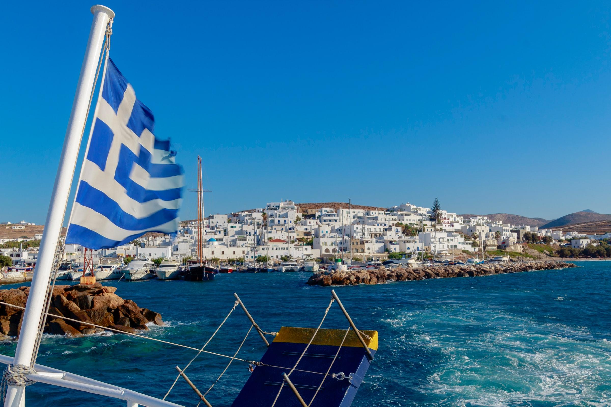Paros - Naoussa - weiße Häuser