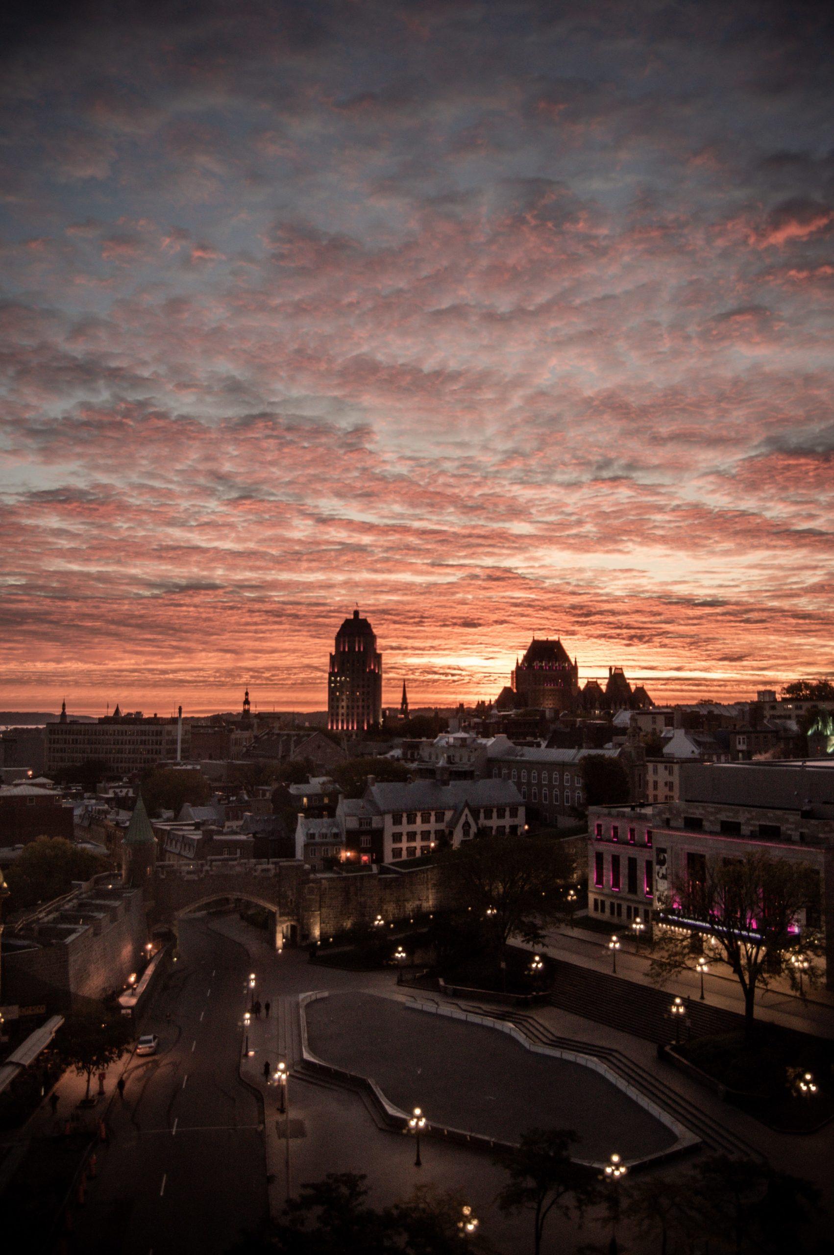 Quebec City Sonnenuntergang