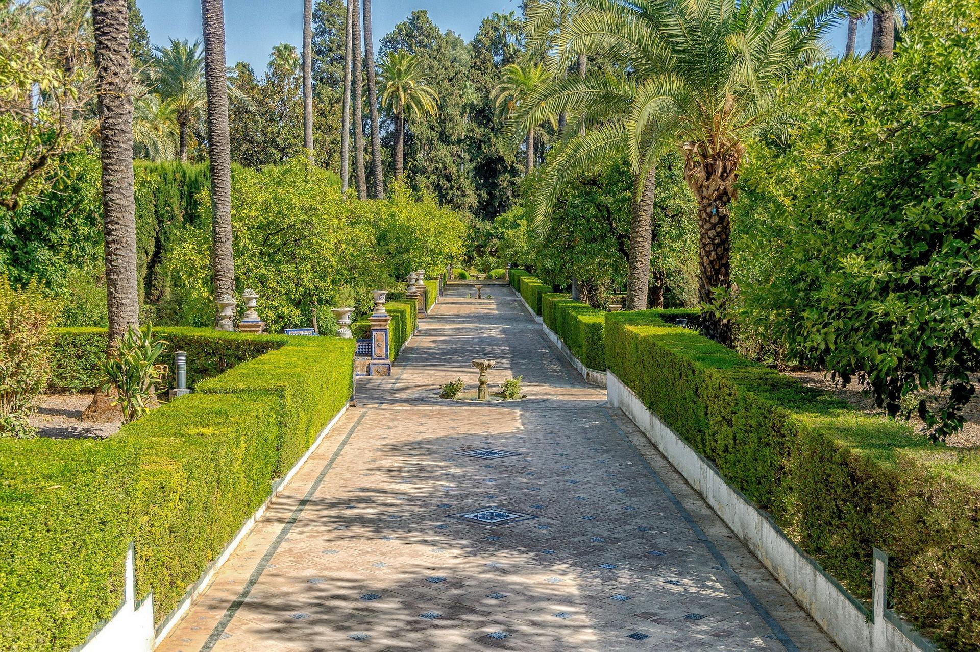 Sevilla - Real Alcazár, Garten