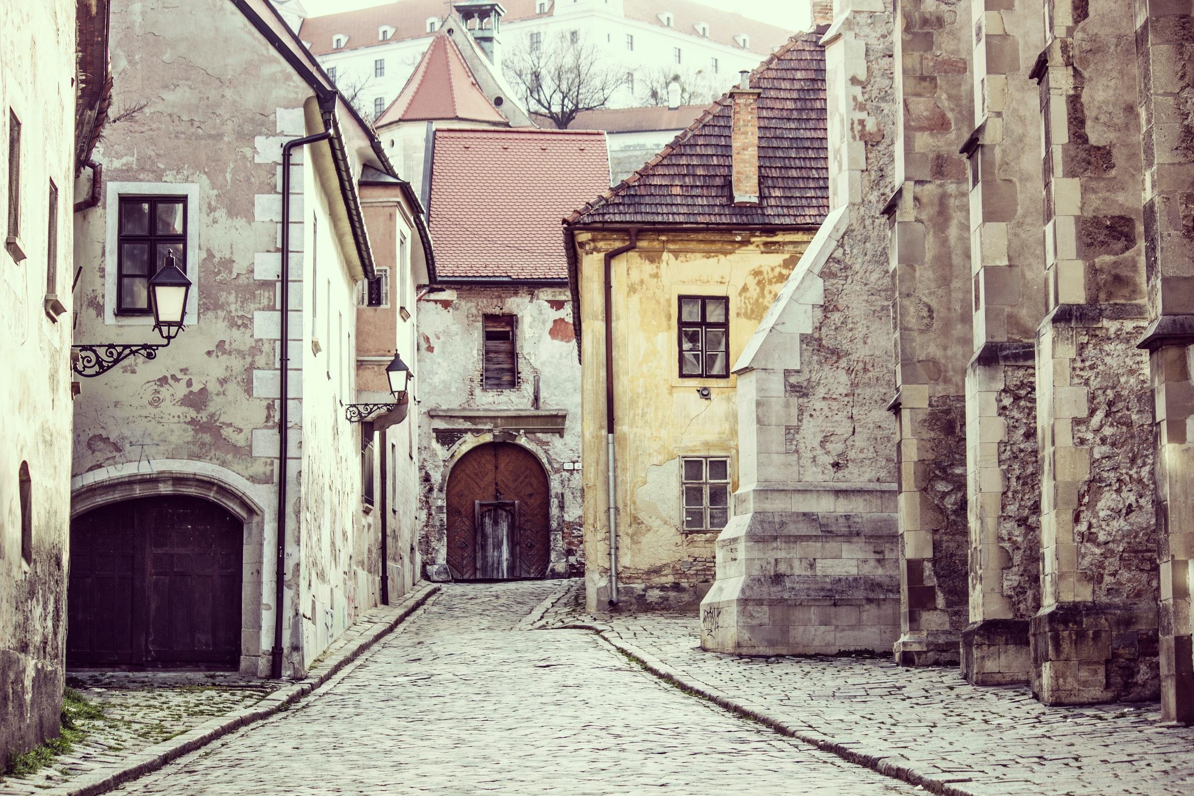 Slowakei Urlaub - Häuserfassaden