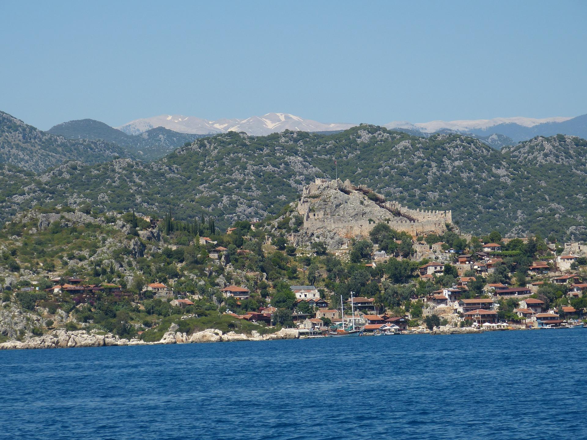 Türkei Kas - Land und Meer