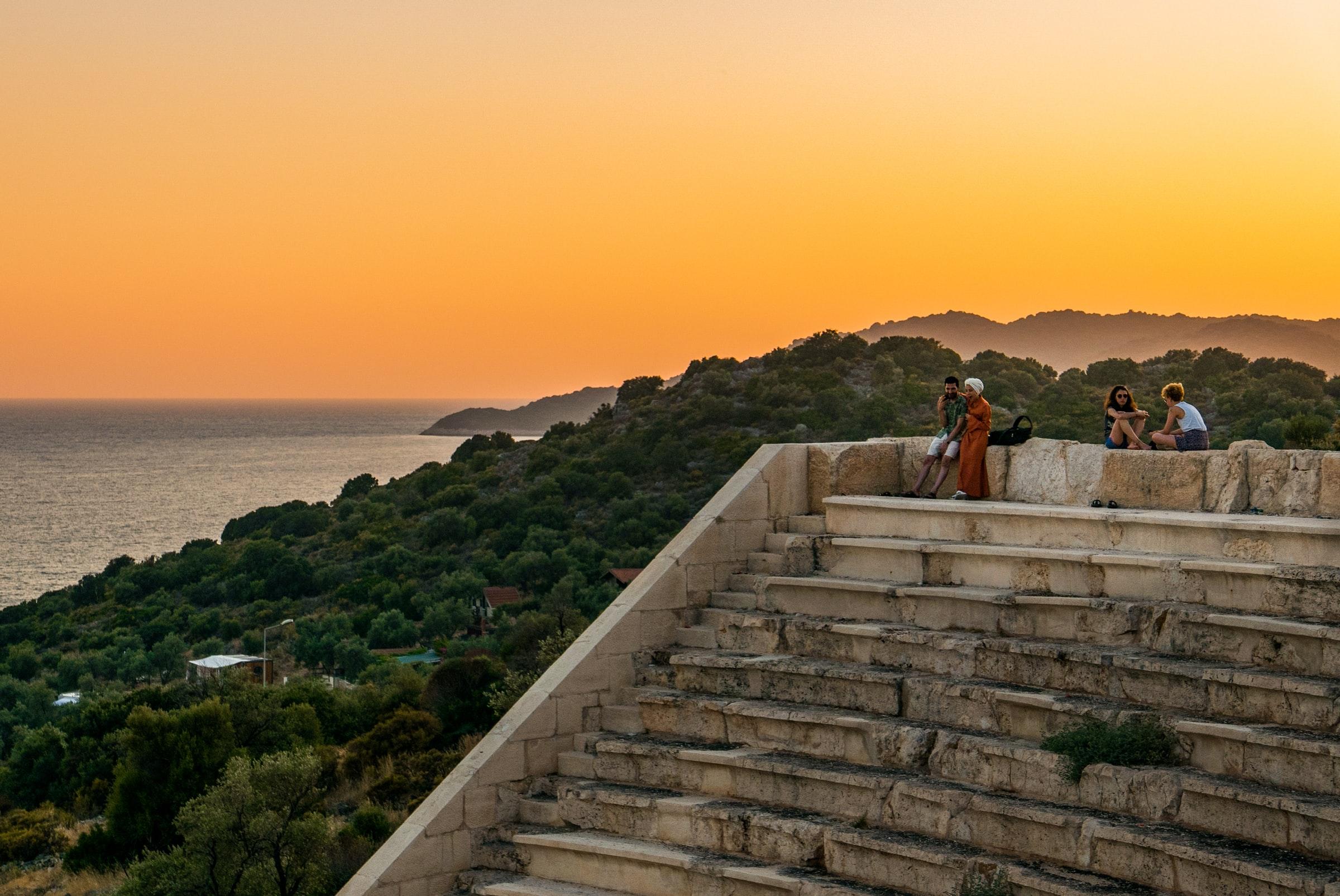 Türkei Kas - Sonnenuntergang, Landschaft, große Treppe