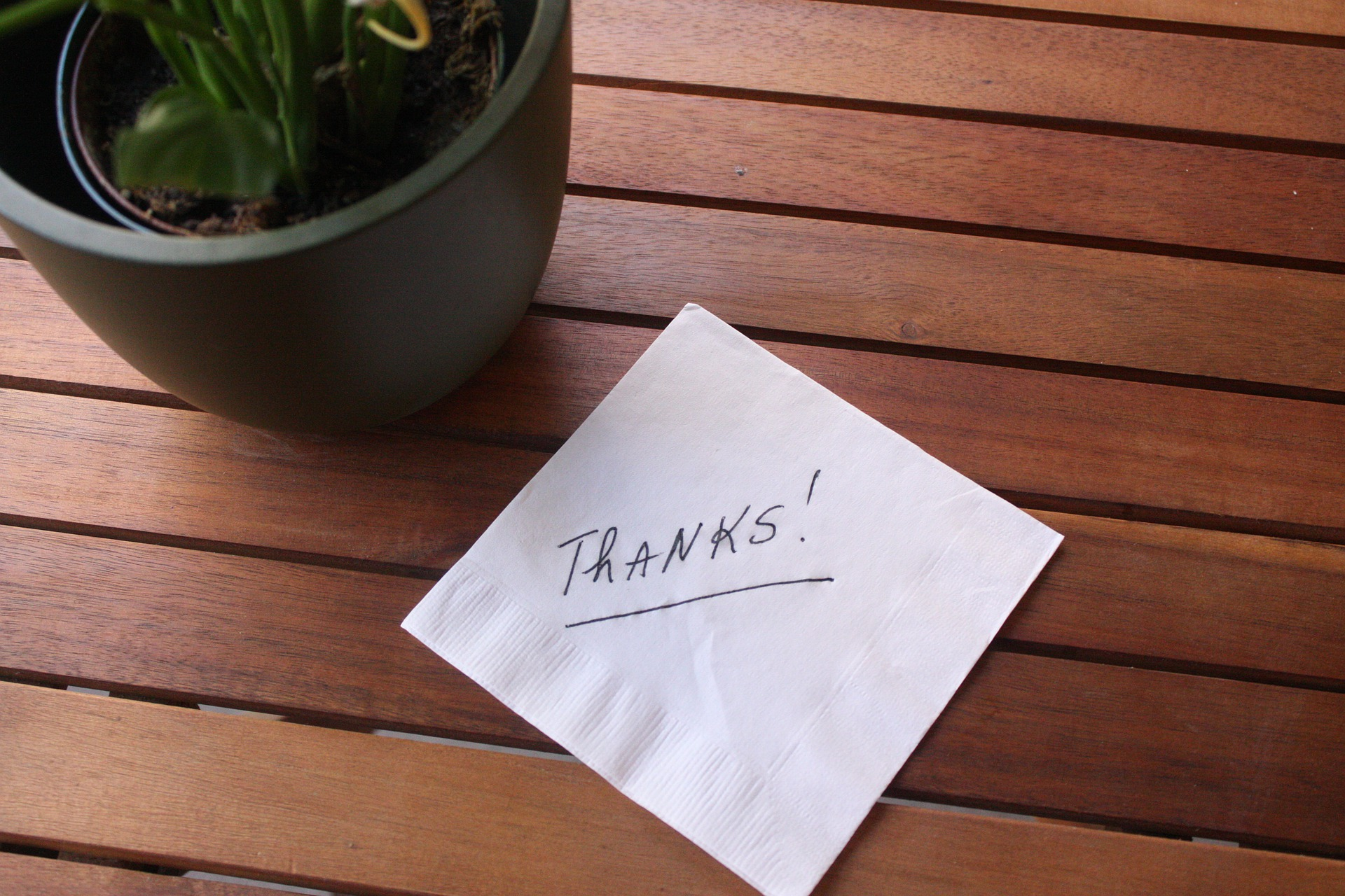 Wertschätzung durchs Reisen - Zettel thanks