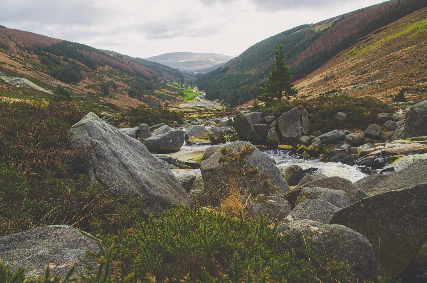 Wicklow Mountains - Landschaft Steine