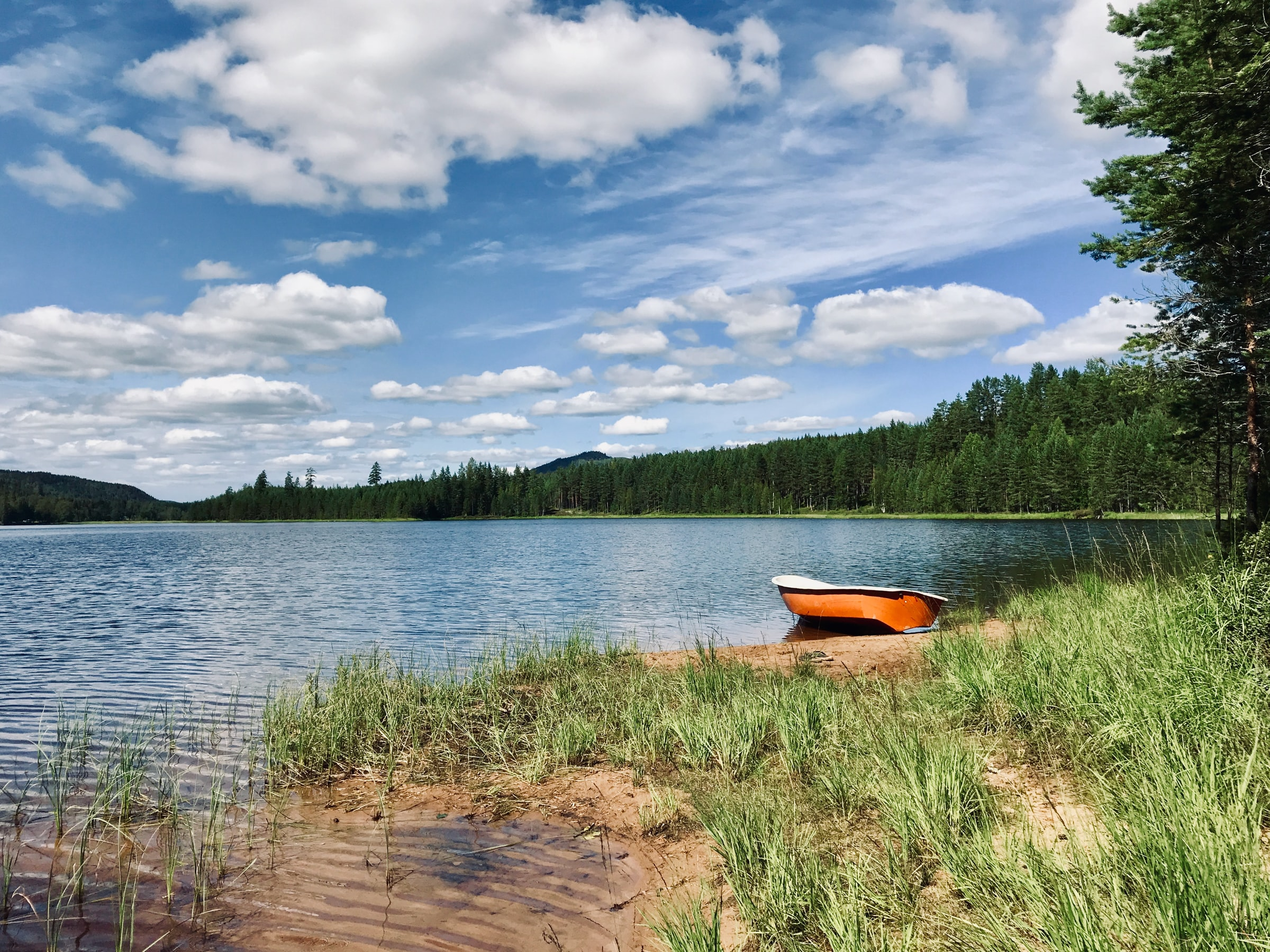 Wildcamping - Fluss und Boot