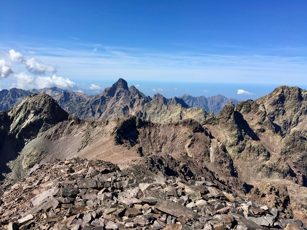 GR20 Gipfel Aussicht