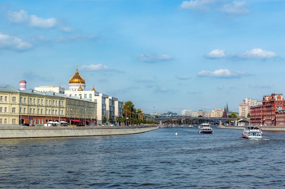 Moskwa Fluss Russland