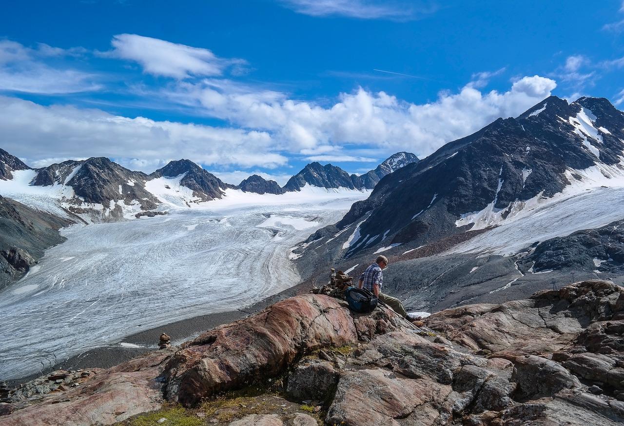Aussicht Pitztaler Gletscher auf dem E5