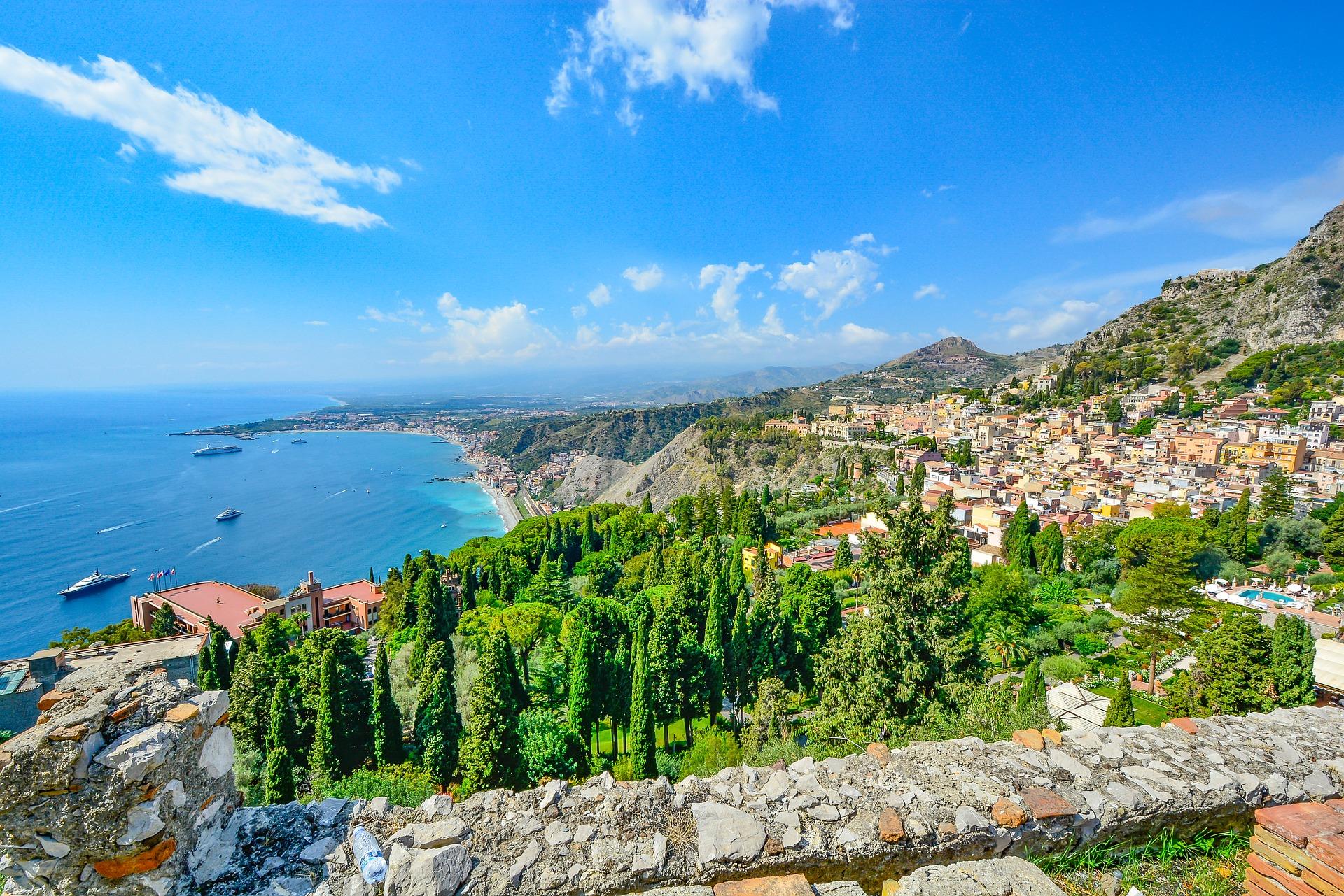 Sizilien Aussicht Strände