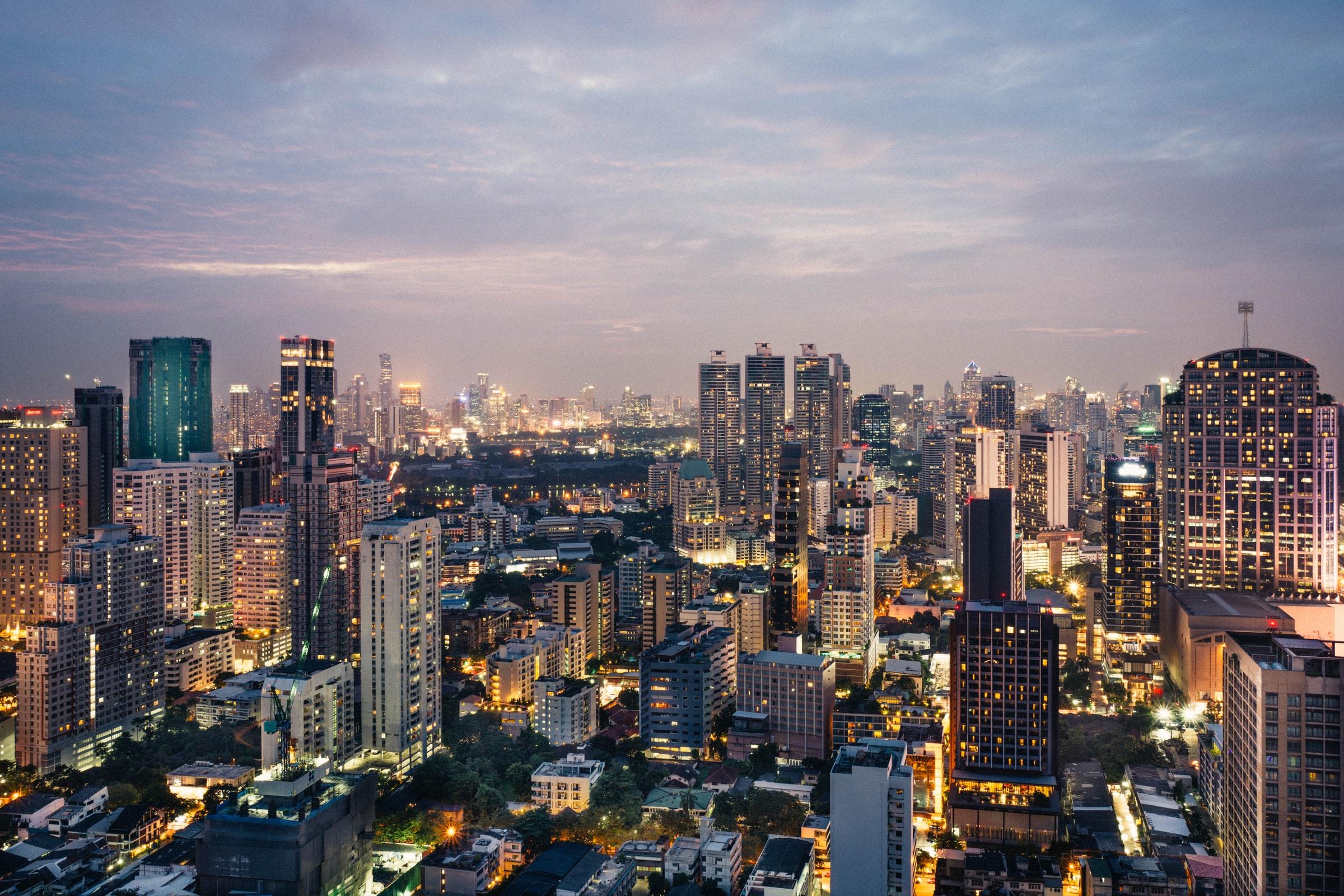 Bangkok Skyline bei Nacht
