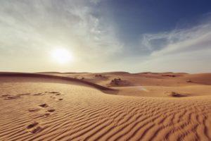 Wüstenlandschaft im Oman