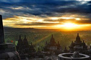 Borobudur Sonnenuntergang