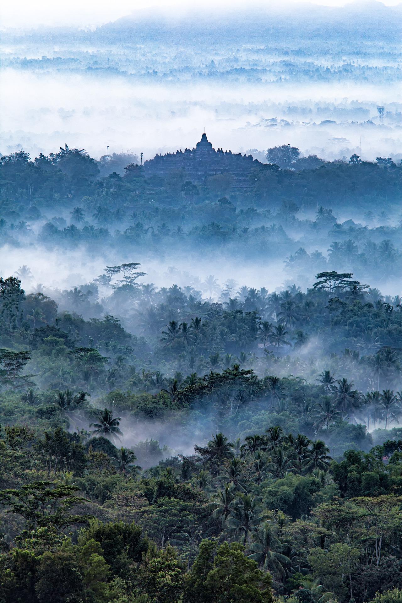 Borobudur Landschaft