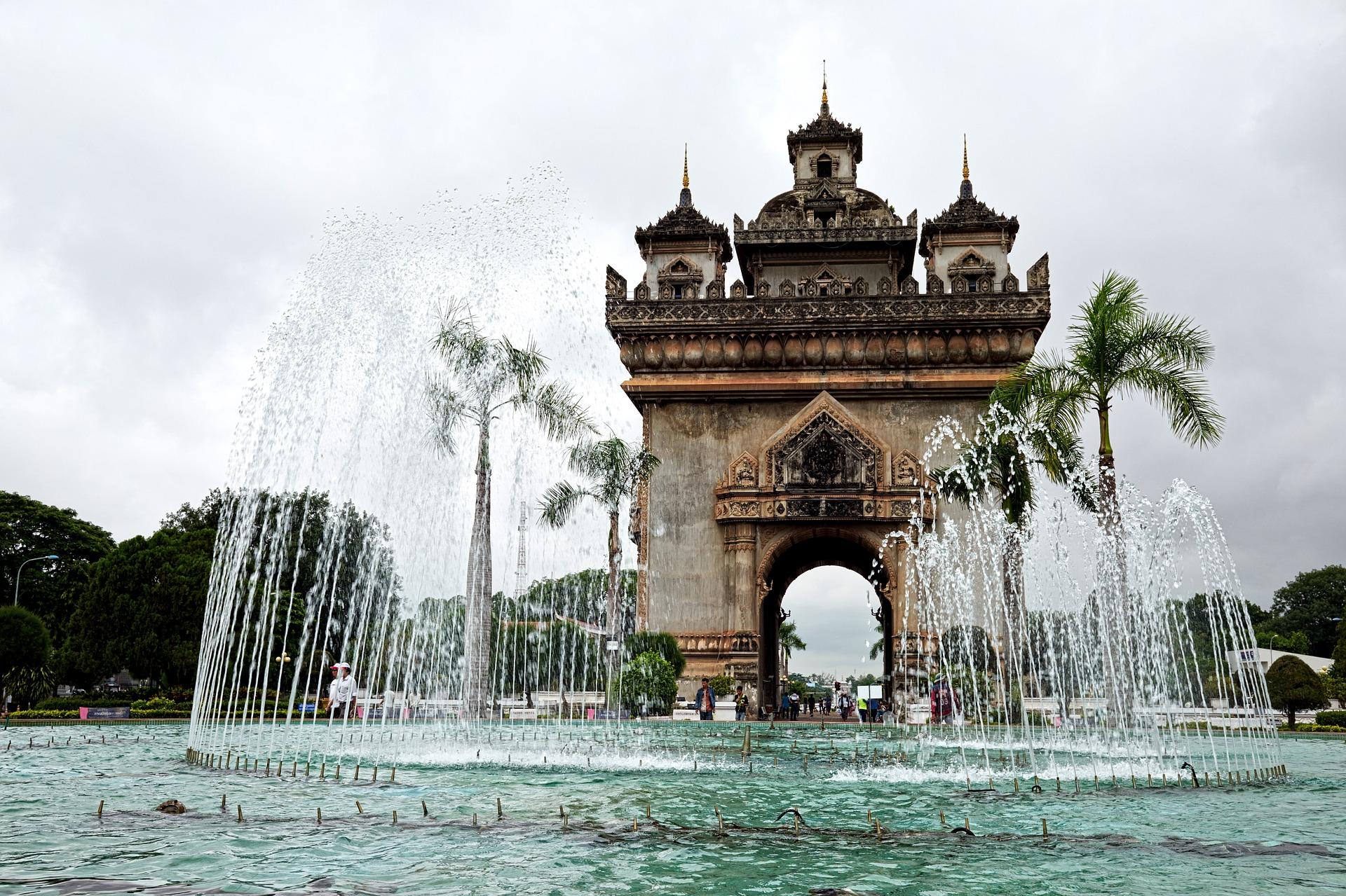 Brunnen in Vientiane