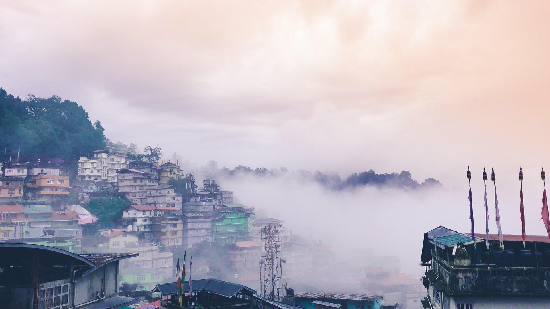 Sikkim Gangtok Häuser