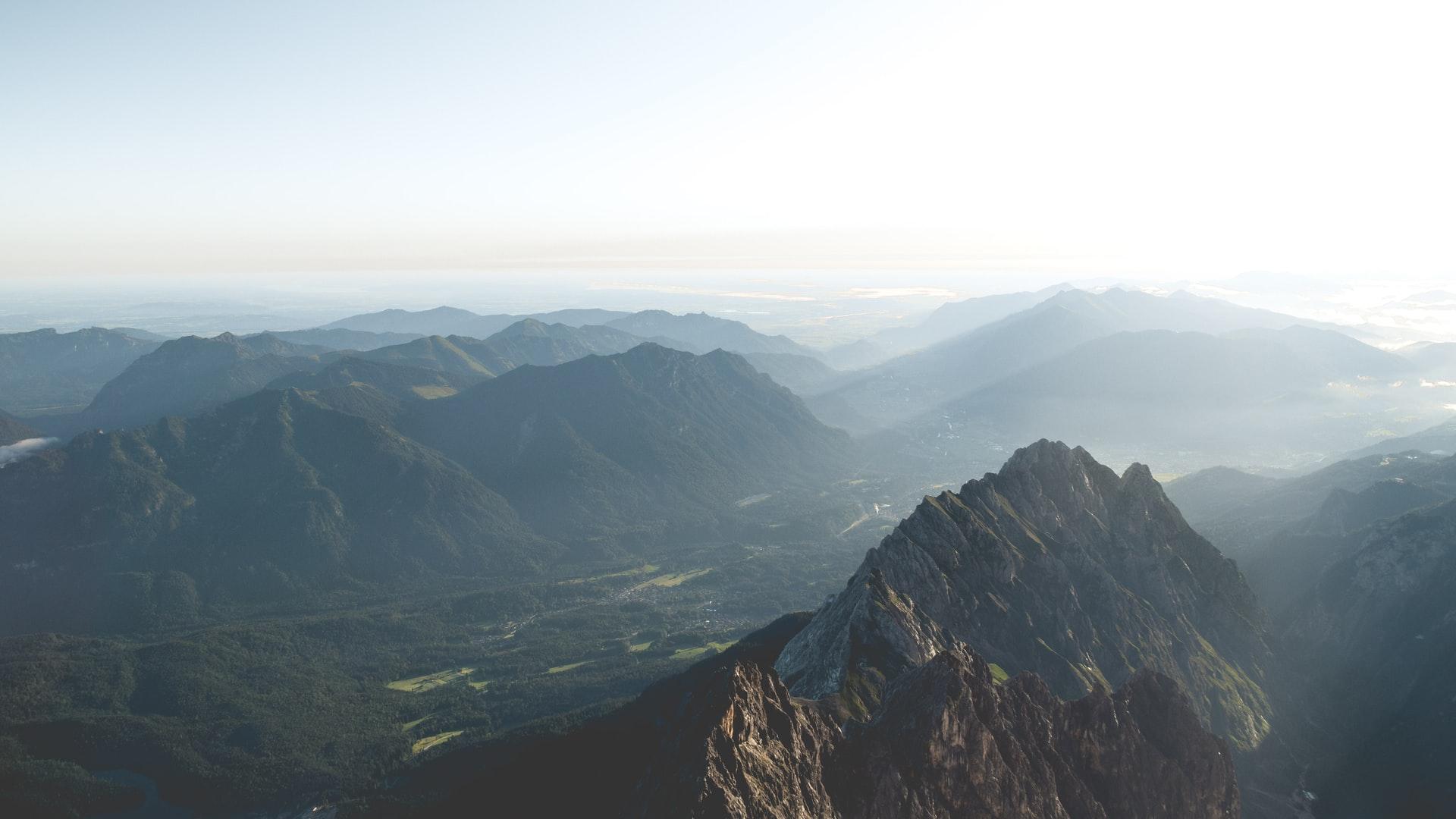 Wettersteingebirge Alpen in Bayern